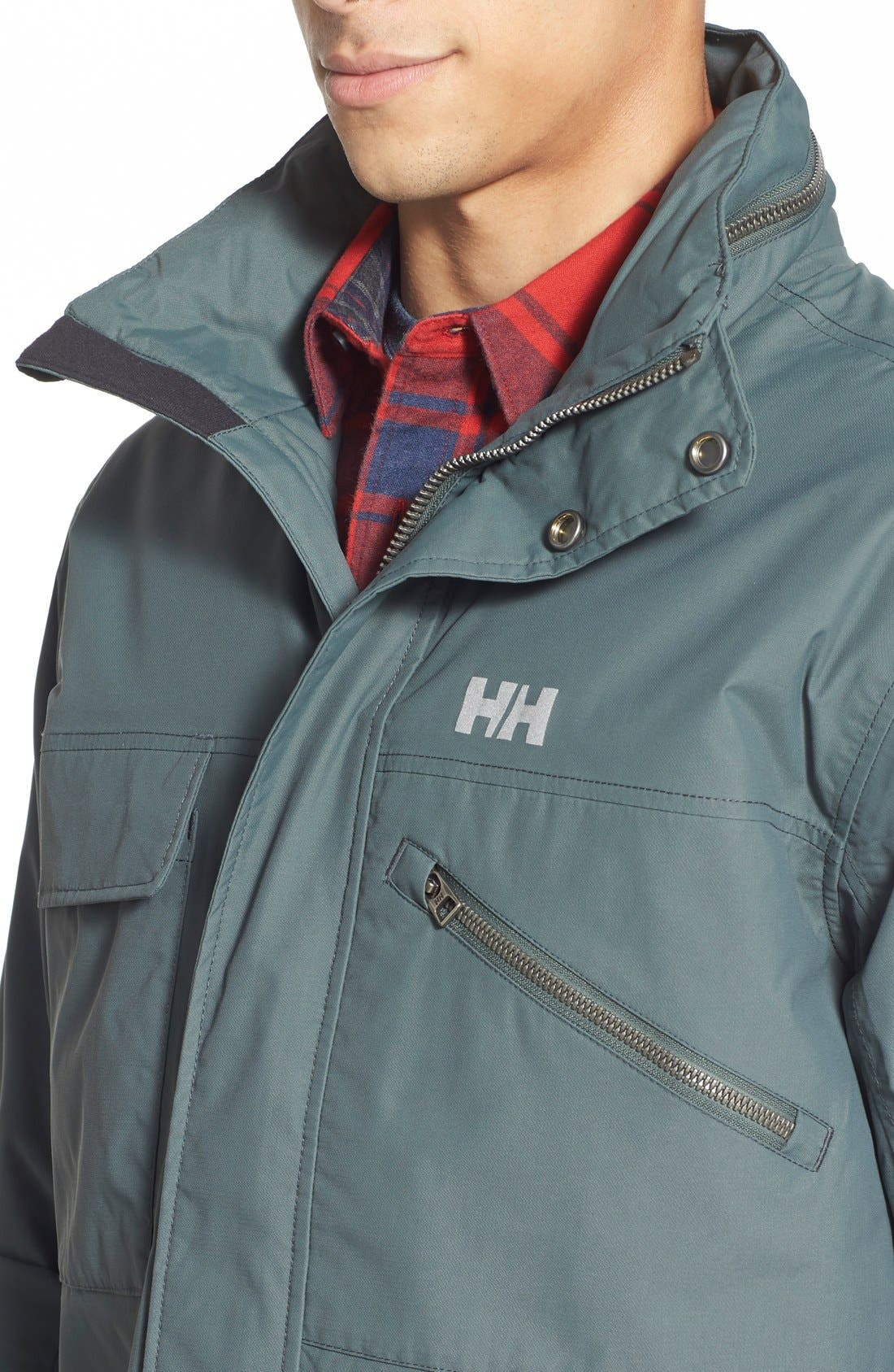 HellyHansen 'Universal' MotoRain Jacket,                             Alternate thumbnail 9, color,                             080