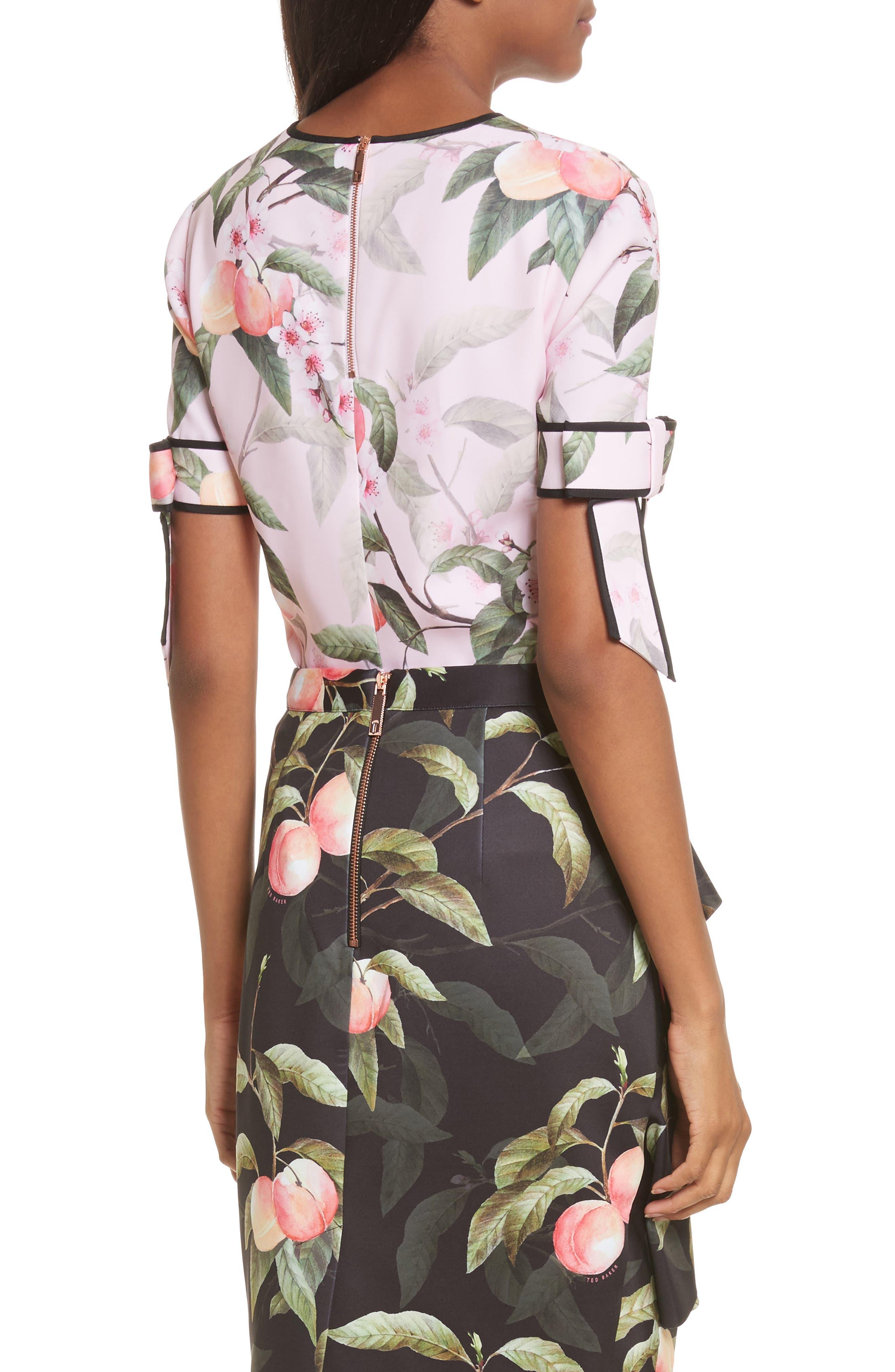 Peach Blossom Bow Sleeve Top,                             Alternate thumbnail 2, color,                             683