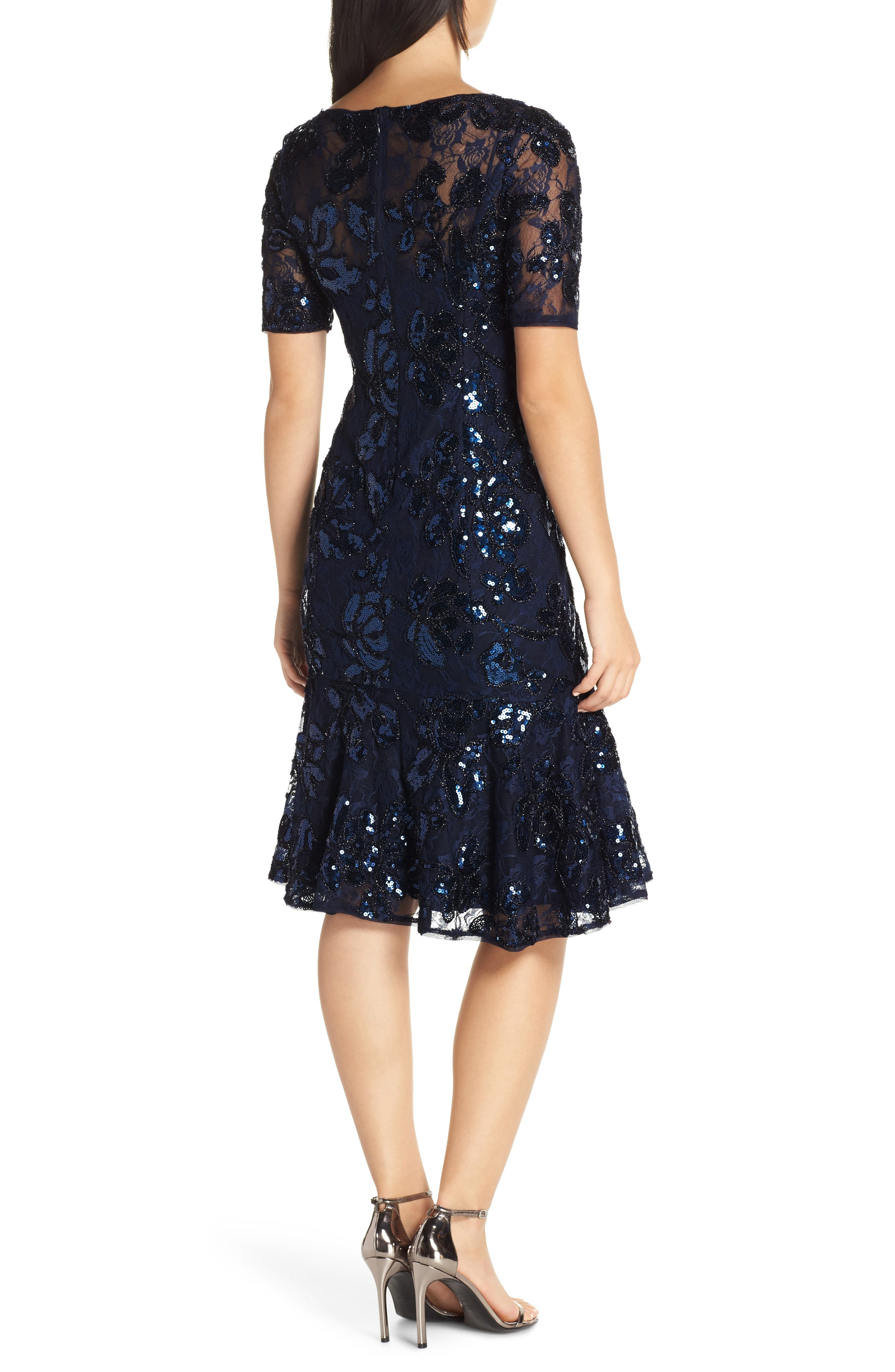 ADRIANNA PAPELL,                             Sequin Embellished Dress,                             Alternate thumbnail 2, color,                             410