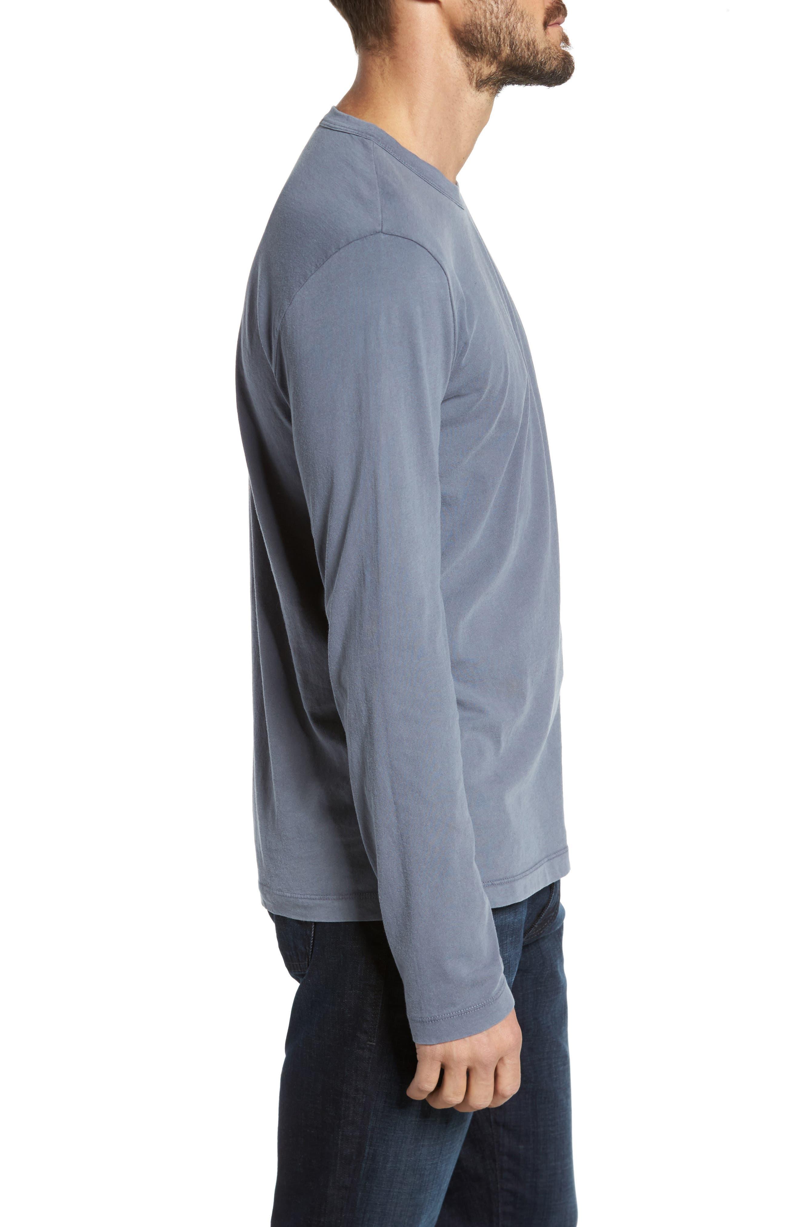 Long Sleeve Crewneck T-Shirt,                             Alternate thumbnail 3, color,                             NORTH PIGMENT GREY