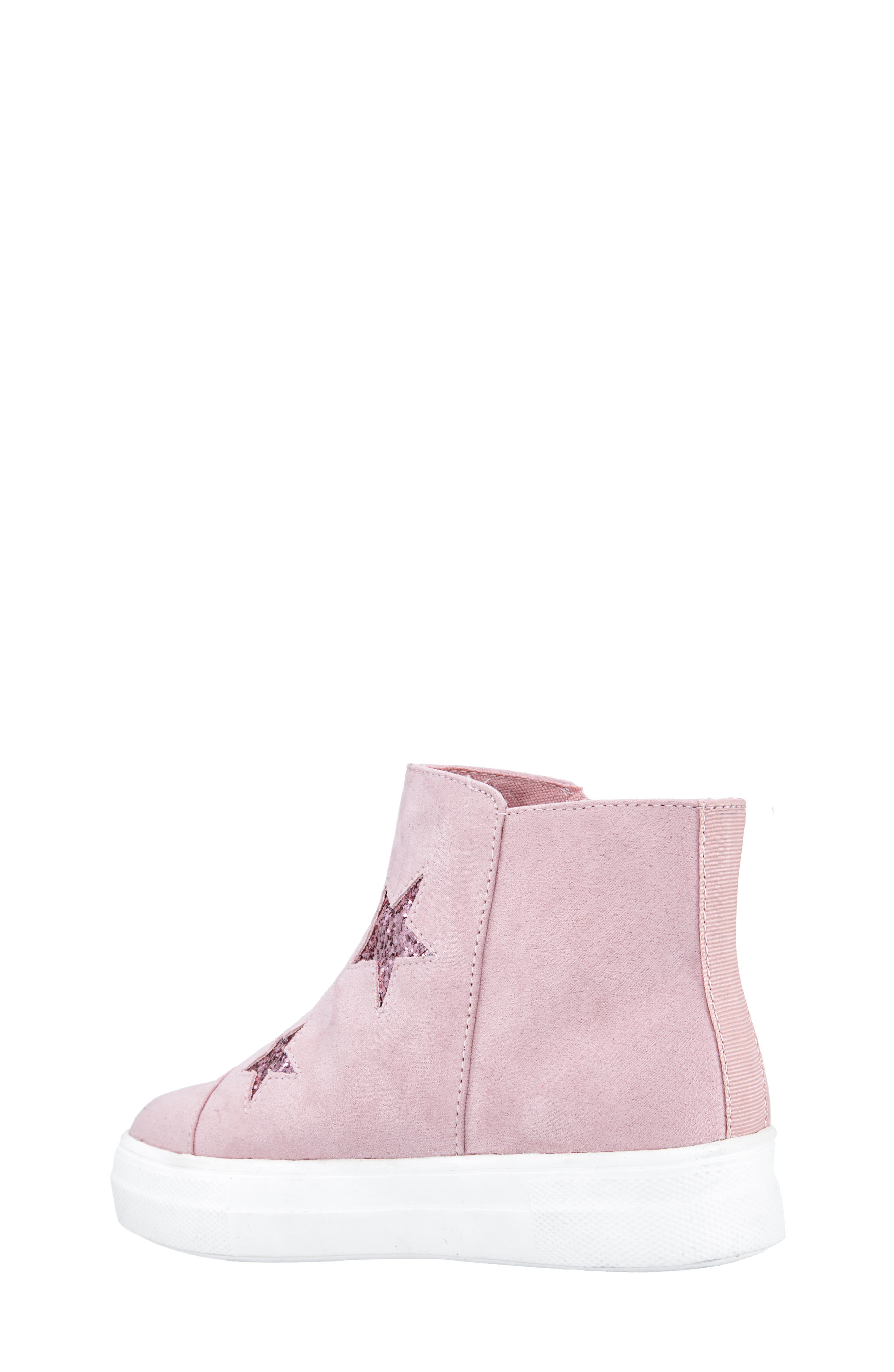Jacqui Glitter High Top Sneaker,                             Alternate thumbnail 2, color,                             BLUSH MICRO SUEDE