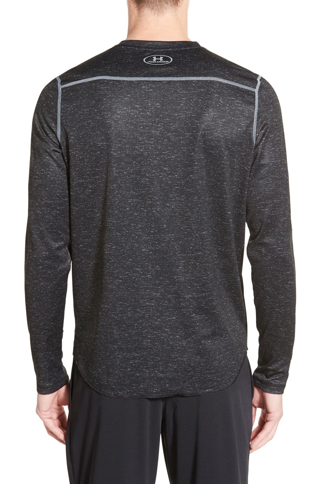 Tech<sup>™</sup> Long Sleeve Waffle Knit T-Shirt,                             Alternate thumbnail 2, color,                             001