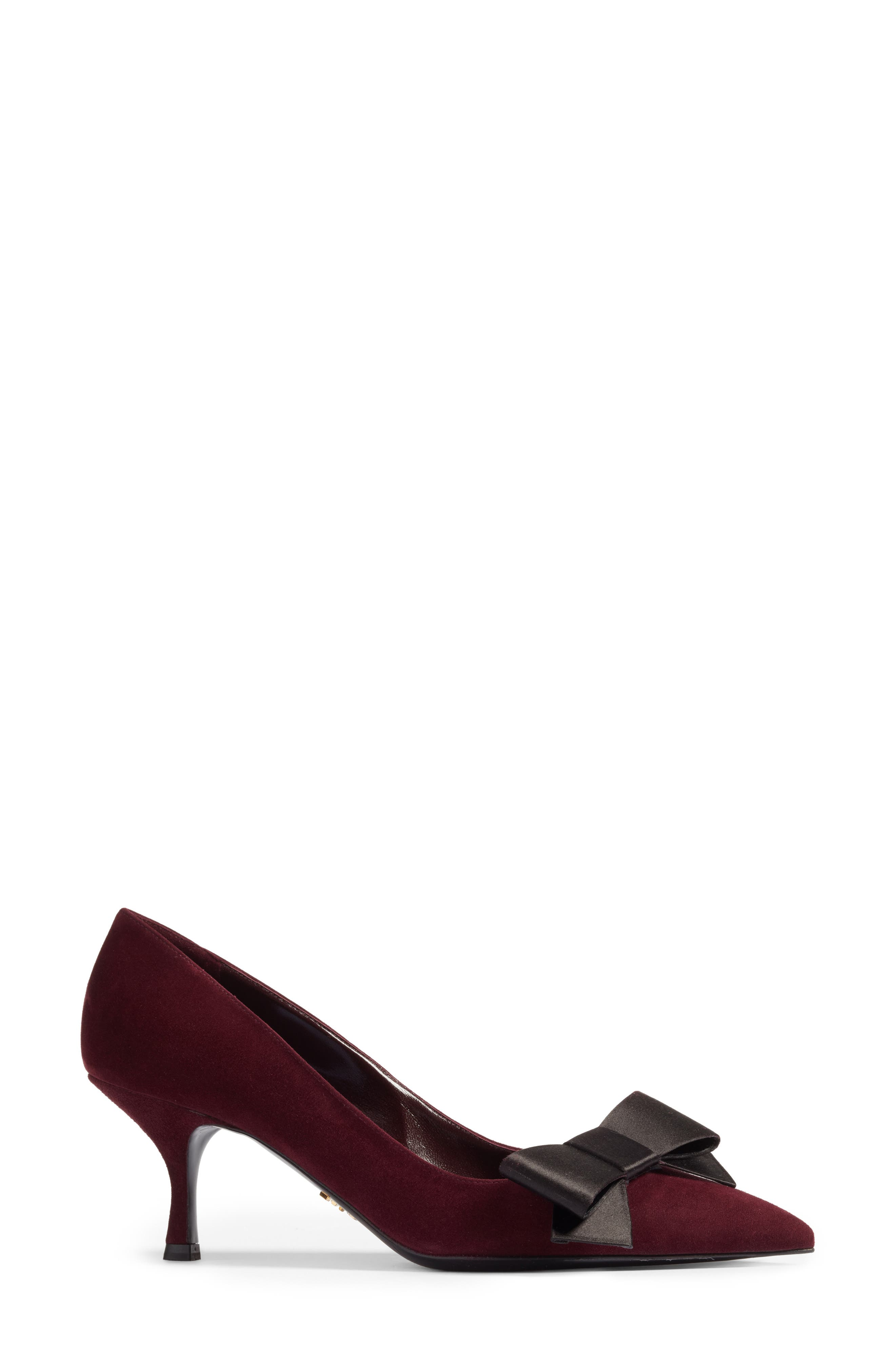 Bow Pointy Toe Pump,                             Alternate thumbnail 6, color,