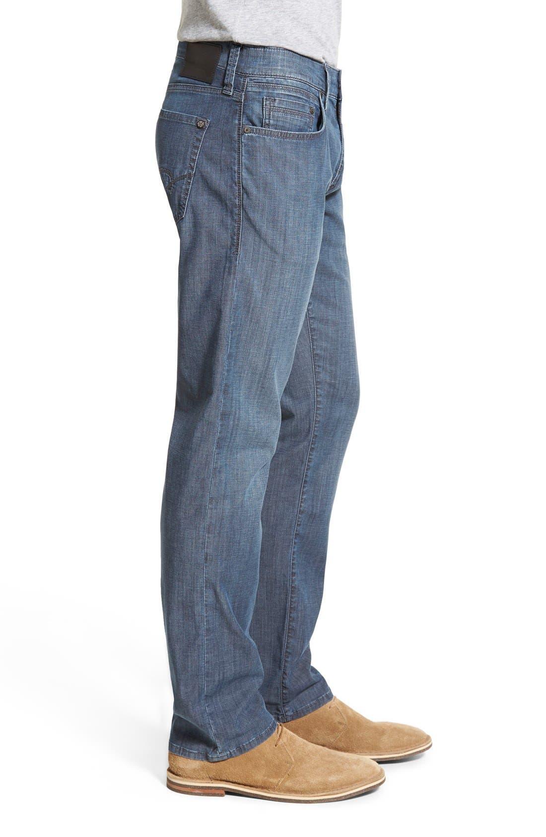 'Zach' Straight Leg Jeans,                             Alternate thumbnail 6, color,                             400