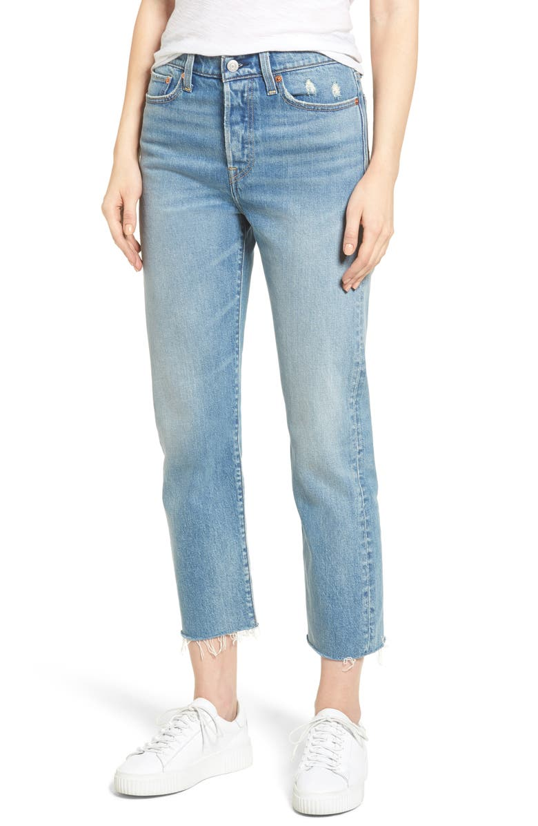 Levi S 174 Wedgie Straight Leg Crop Jeans Rough Tide