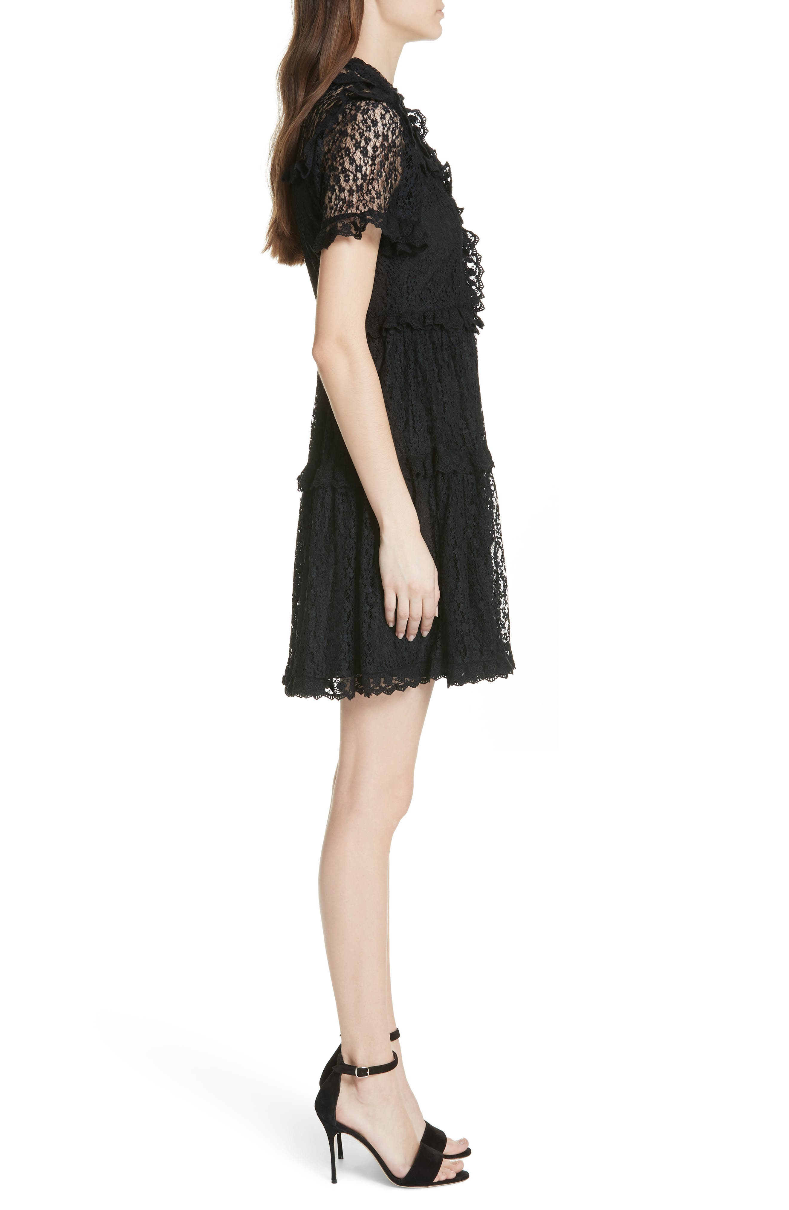 Daisy Lace Dress,                             Alternate thumbnail 3, color,                             001