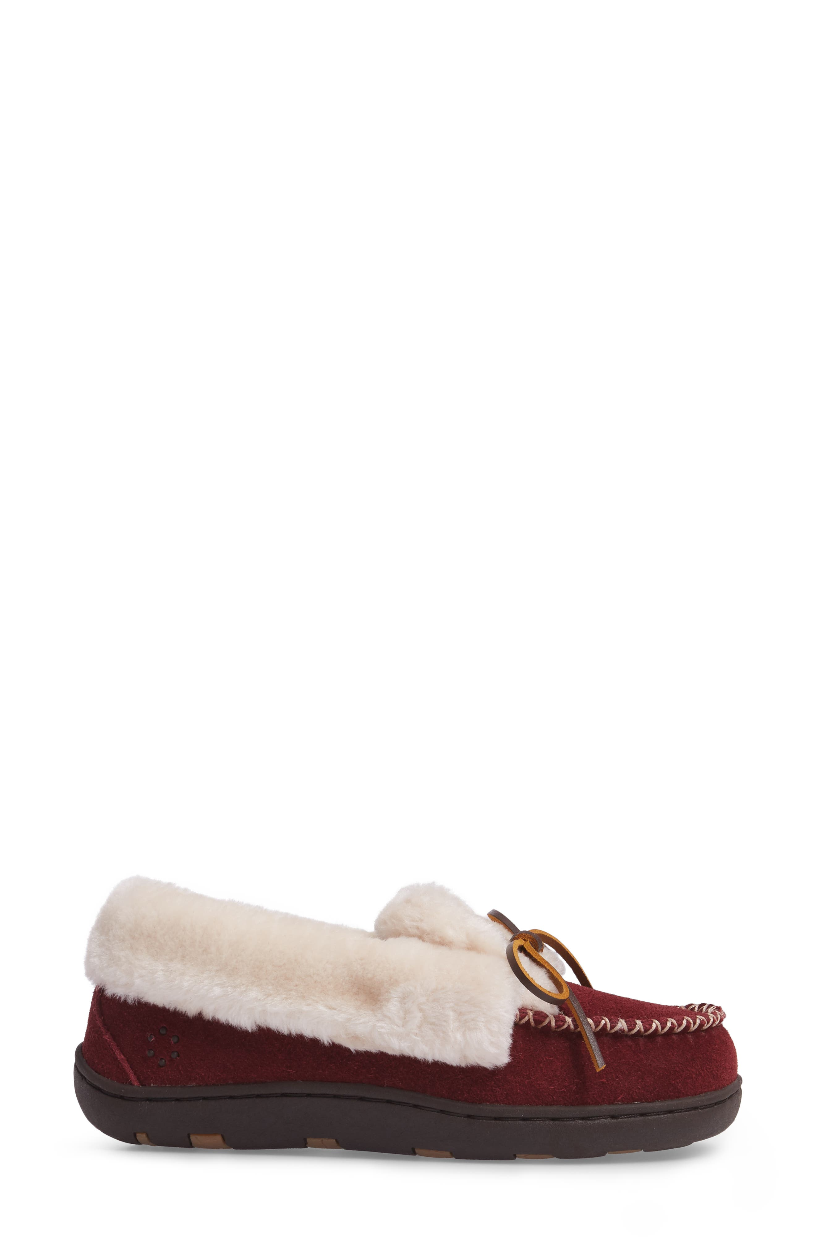 Laurin Slipper,                             Alternate thumbnail 3, color,                             RUBY SUEDE