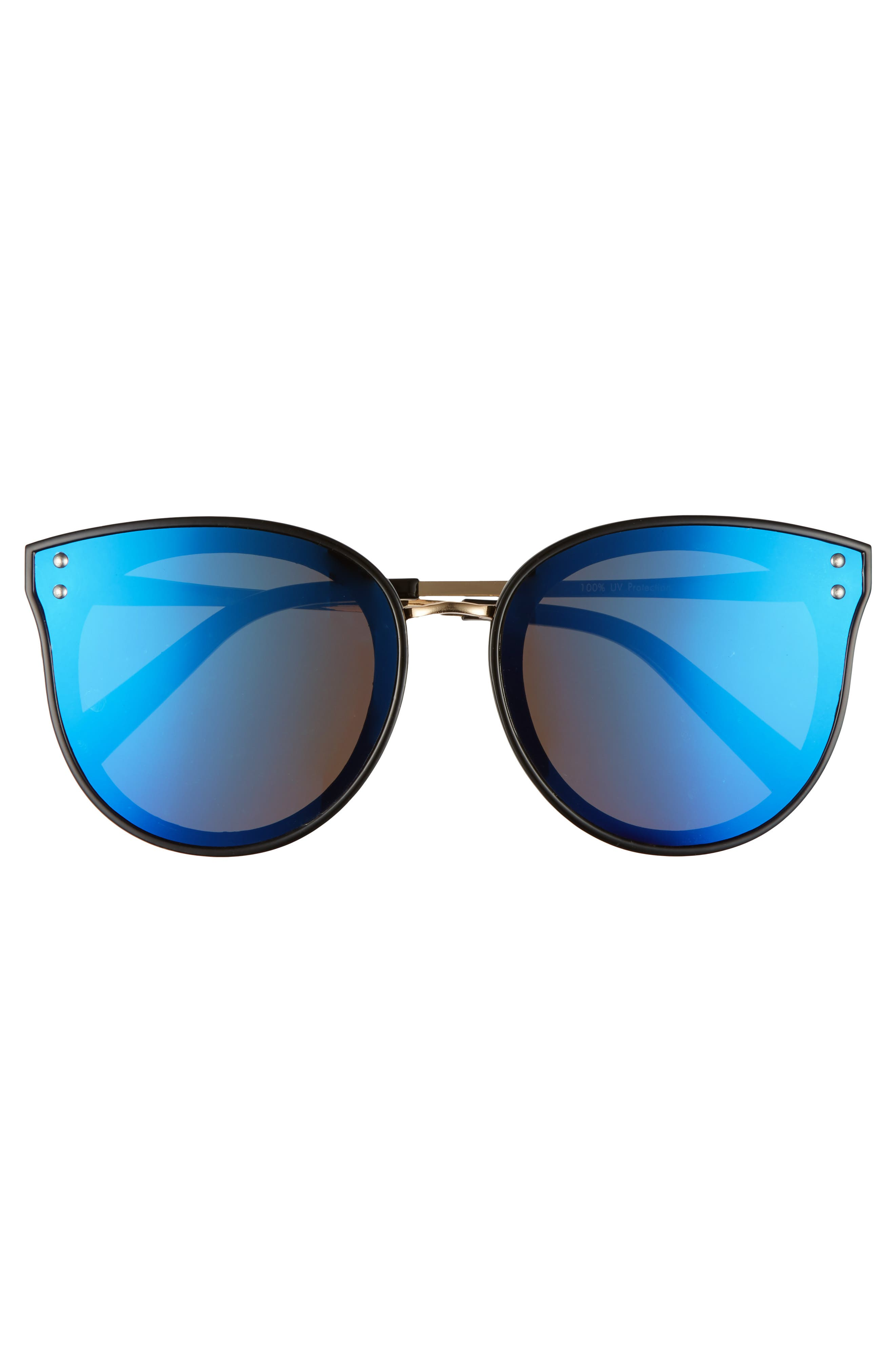 51mm Round Sunglasses,                             Alternate thumbnail 3, color,                             001
