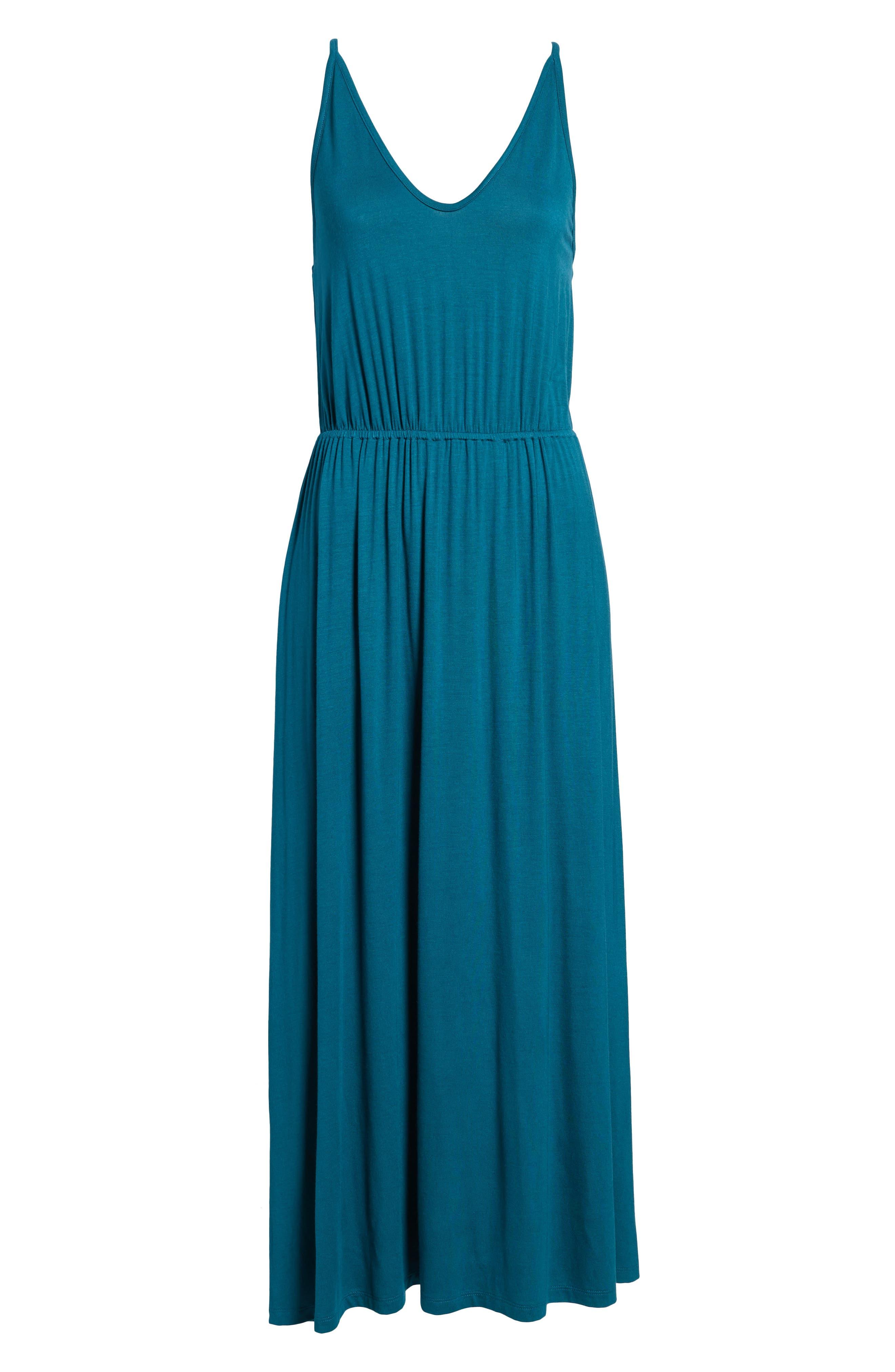 V-Neck Maxi Dress,                             Alternate thumbnail 18, color,