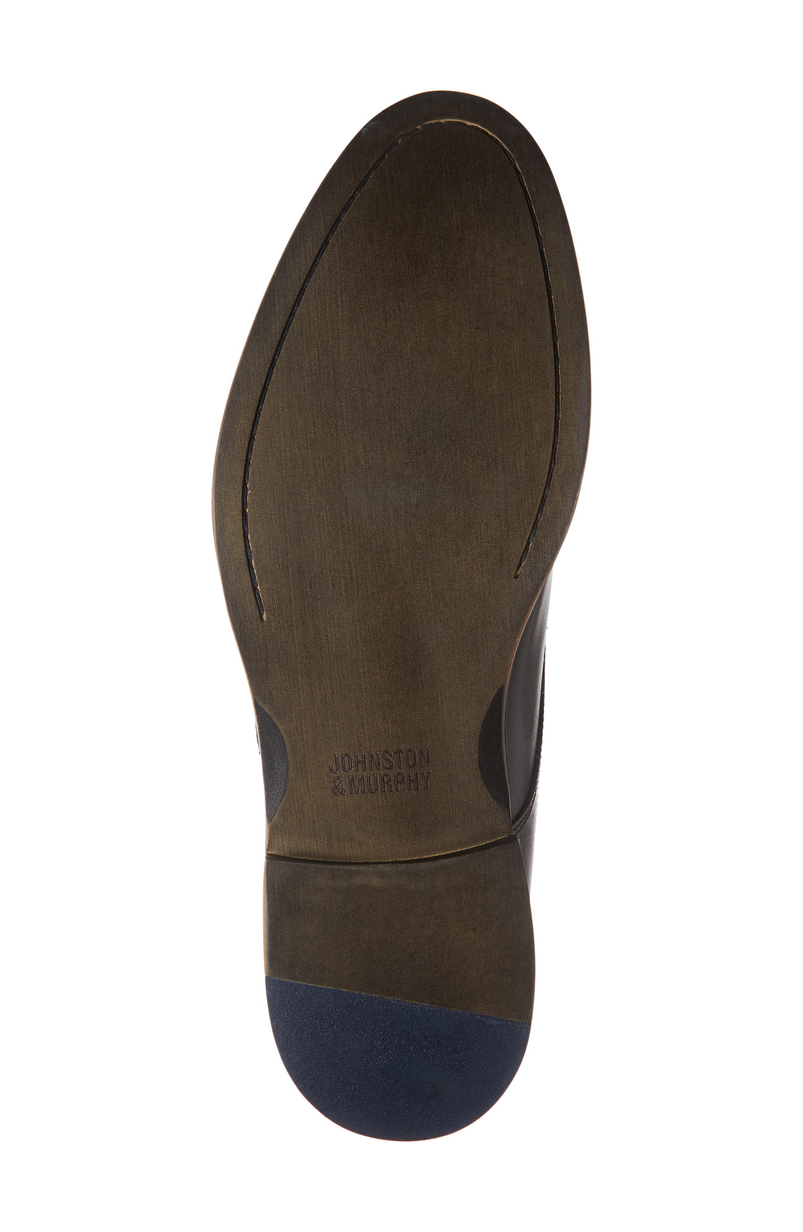 Conard Monk Strap Shoe,                             Alternate thumbnail 6, color,                             BLACK LEATHER