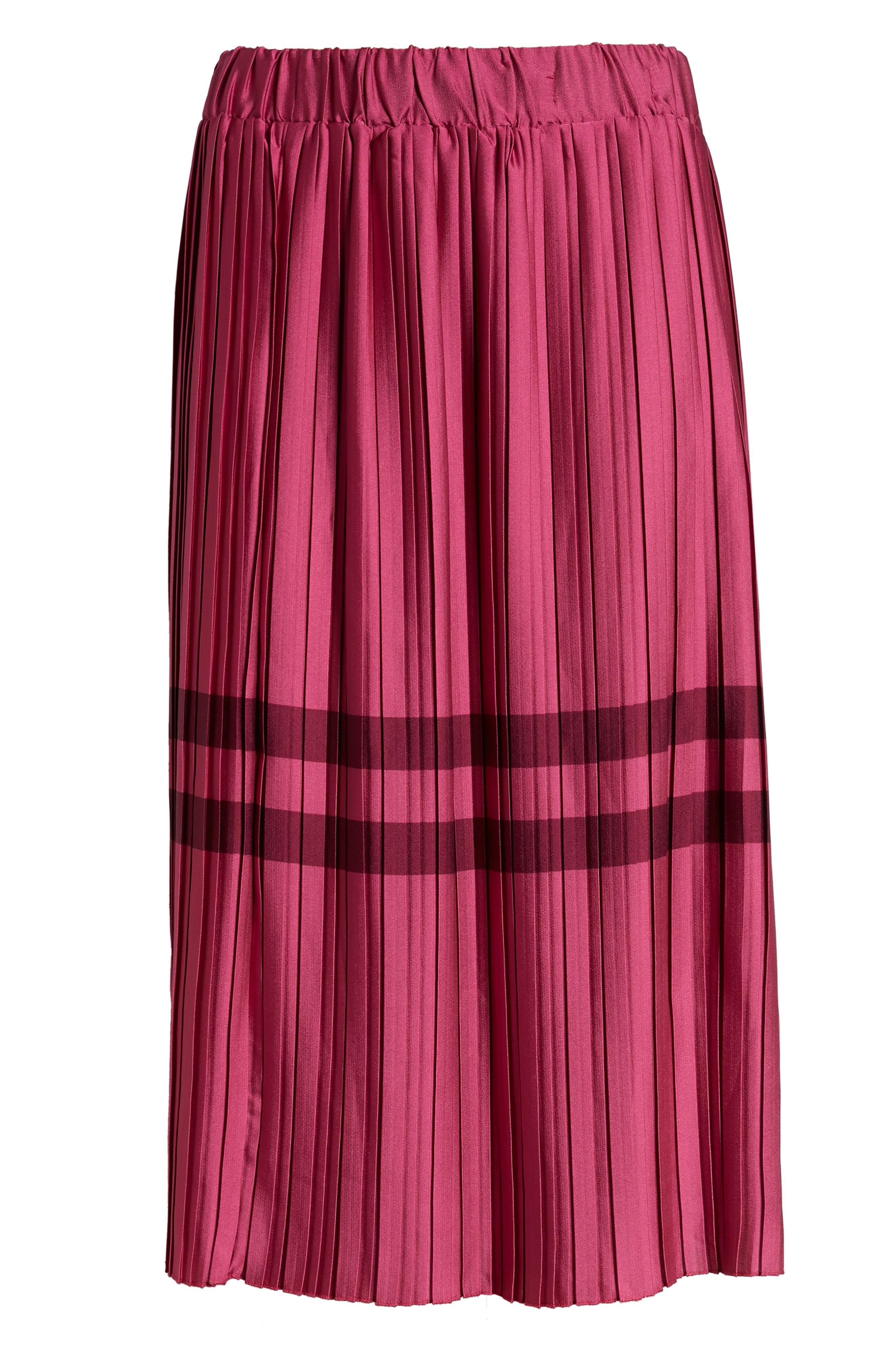 Niti Pleated Skirt,                             Alternate thumbnail 6, color,                             FESTIVAL FUCHSIA