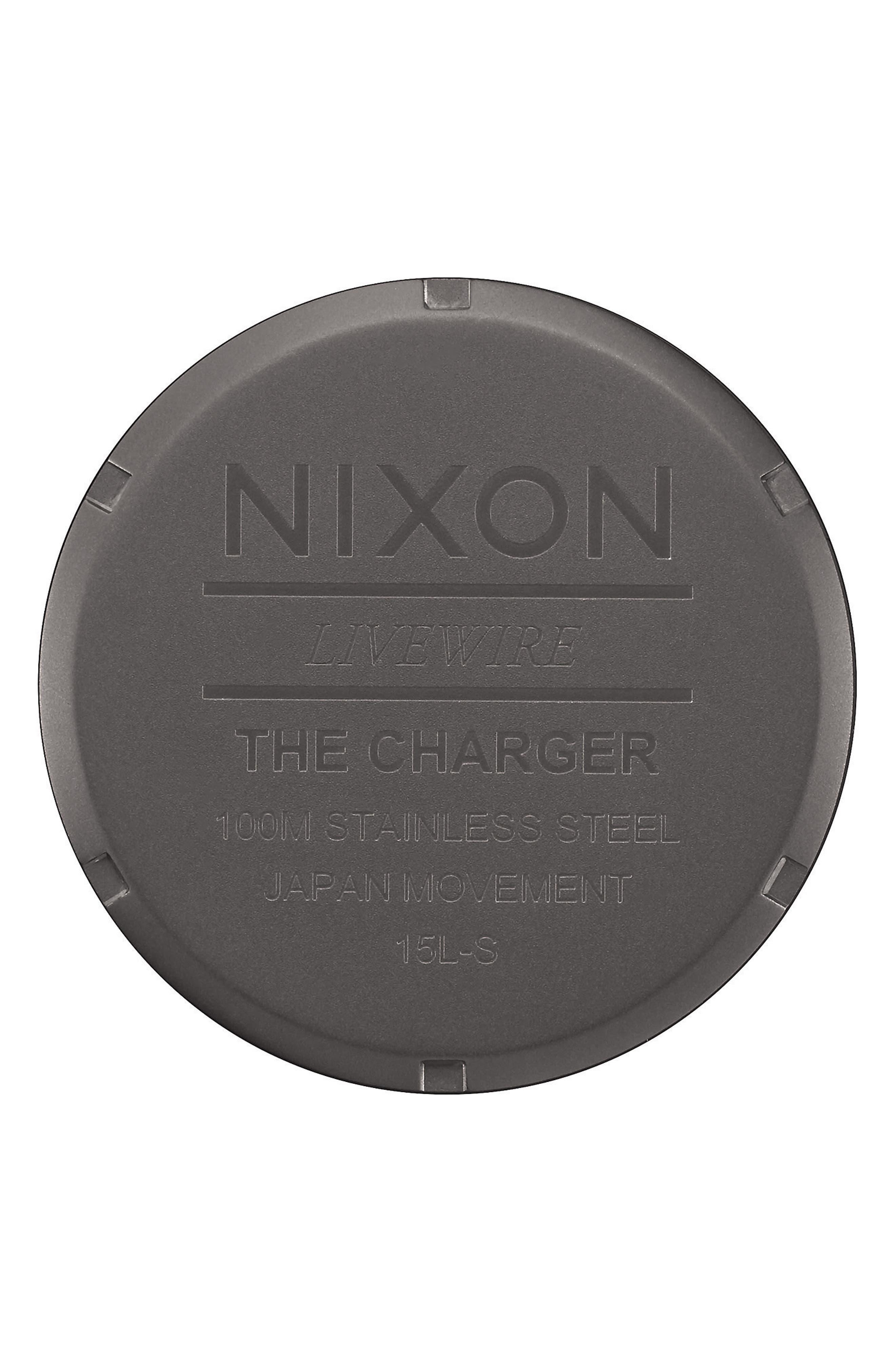 Charger Bracelet Watch, 42mm,                             Alternate thumbnail 3, color,                             GUNMETAL