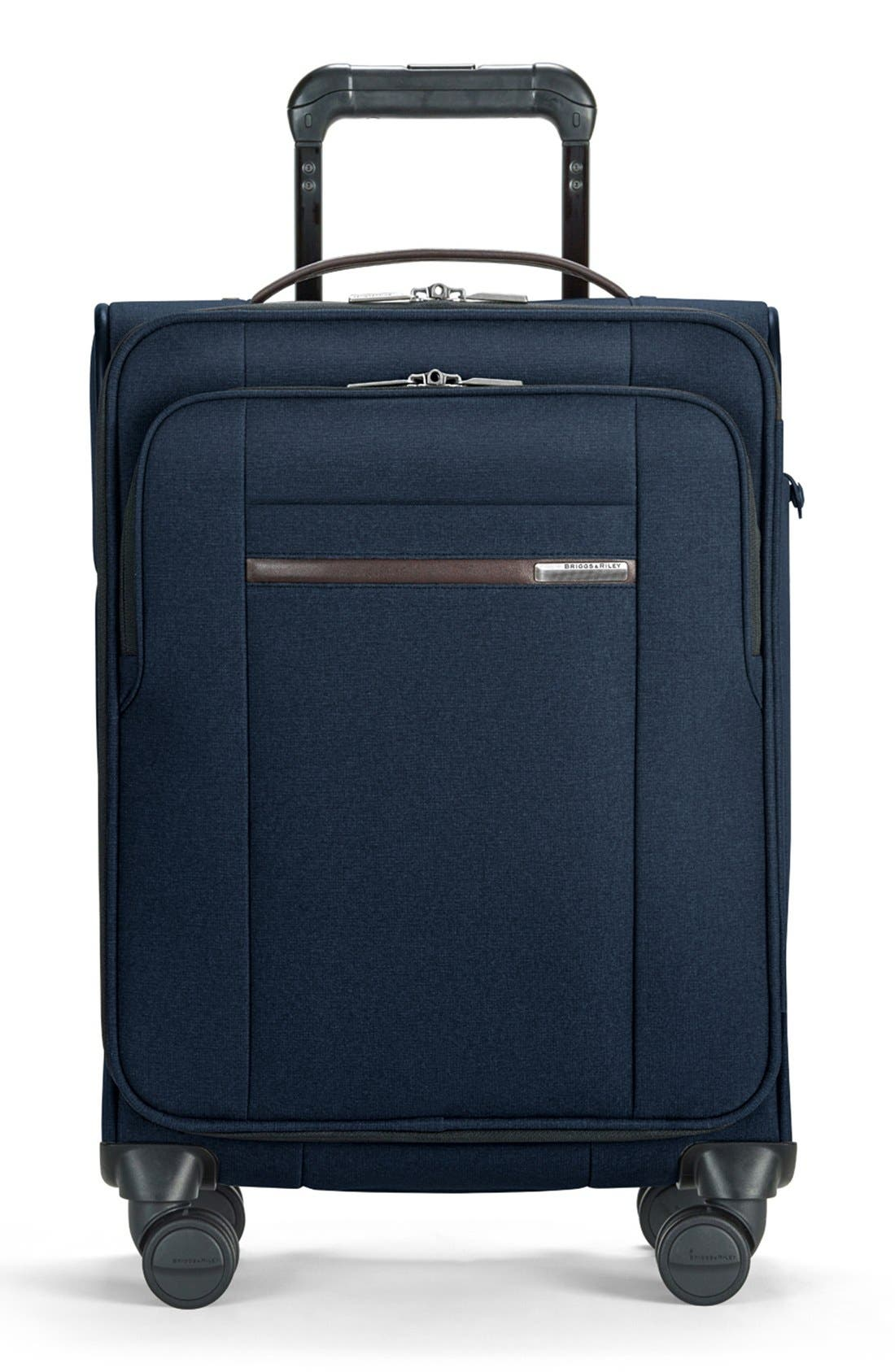 'Kinzie Street' International Wheeled Carry-On,                         Main,                         color, NAVY BLUE
