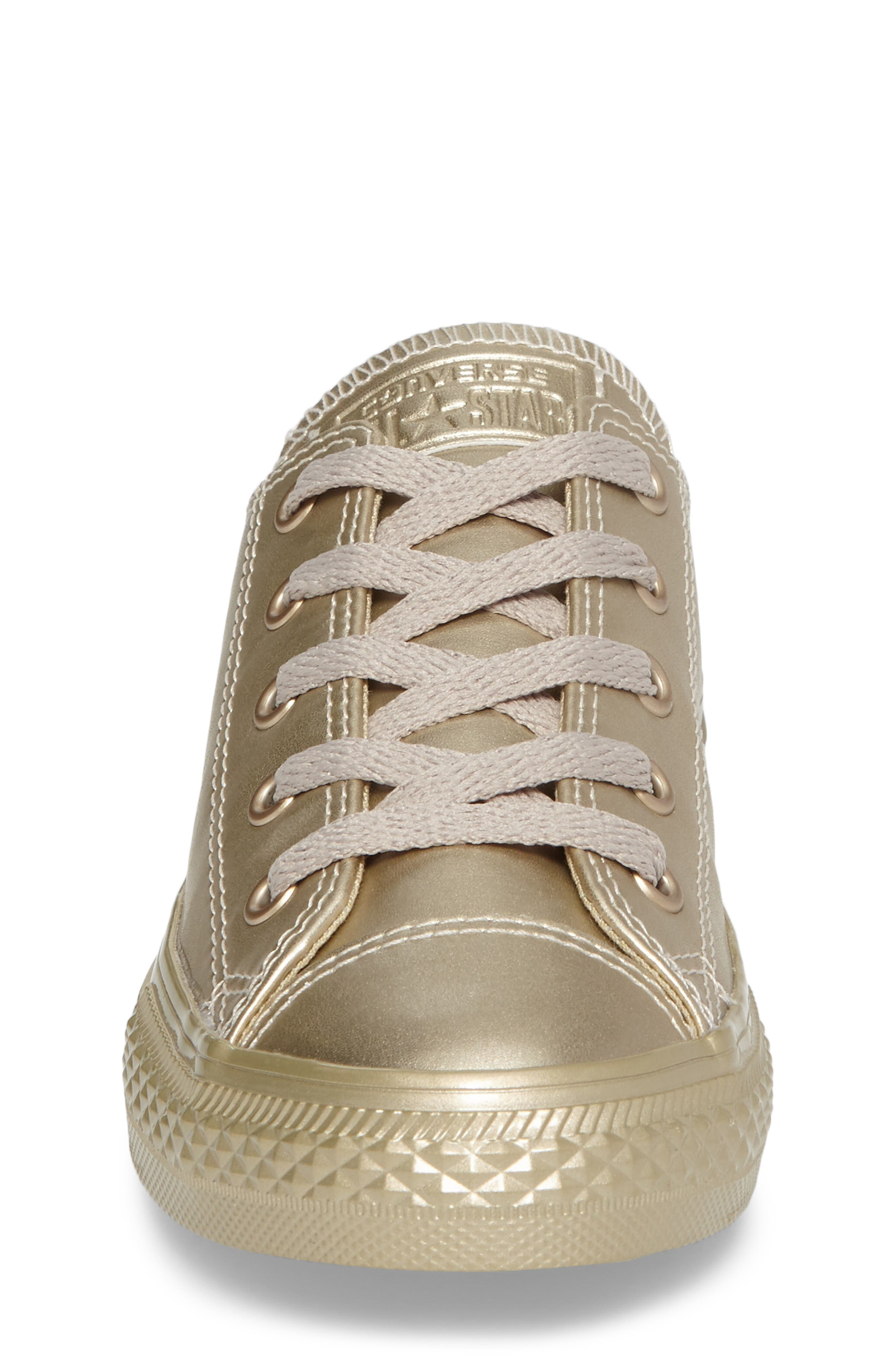 Chuck Taylor<sup>®</sup> All Star<sup>®</sup> Mono Metallic Low Top Sneaker,                             Alternate thumbnail 4, color,                             710