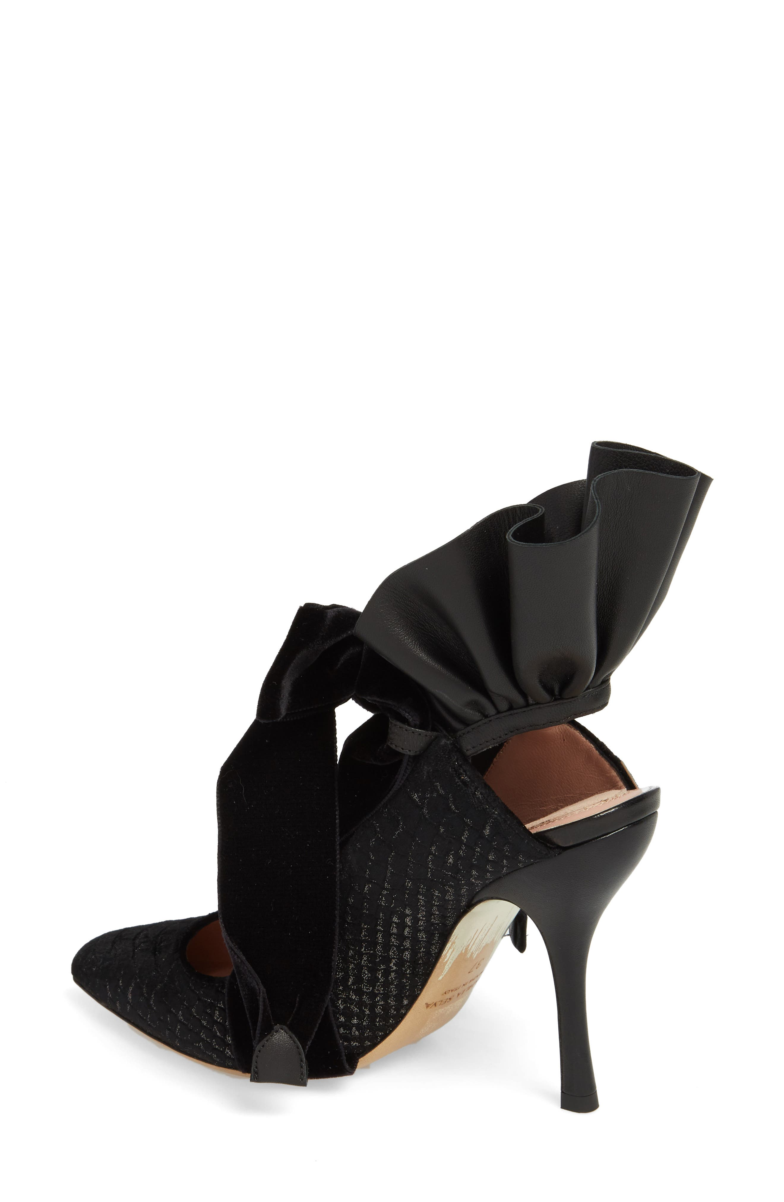 Frills Cobra Pump,                             Alternate thumbnail 2, color,                             BLACK