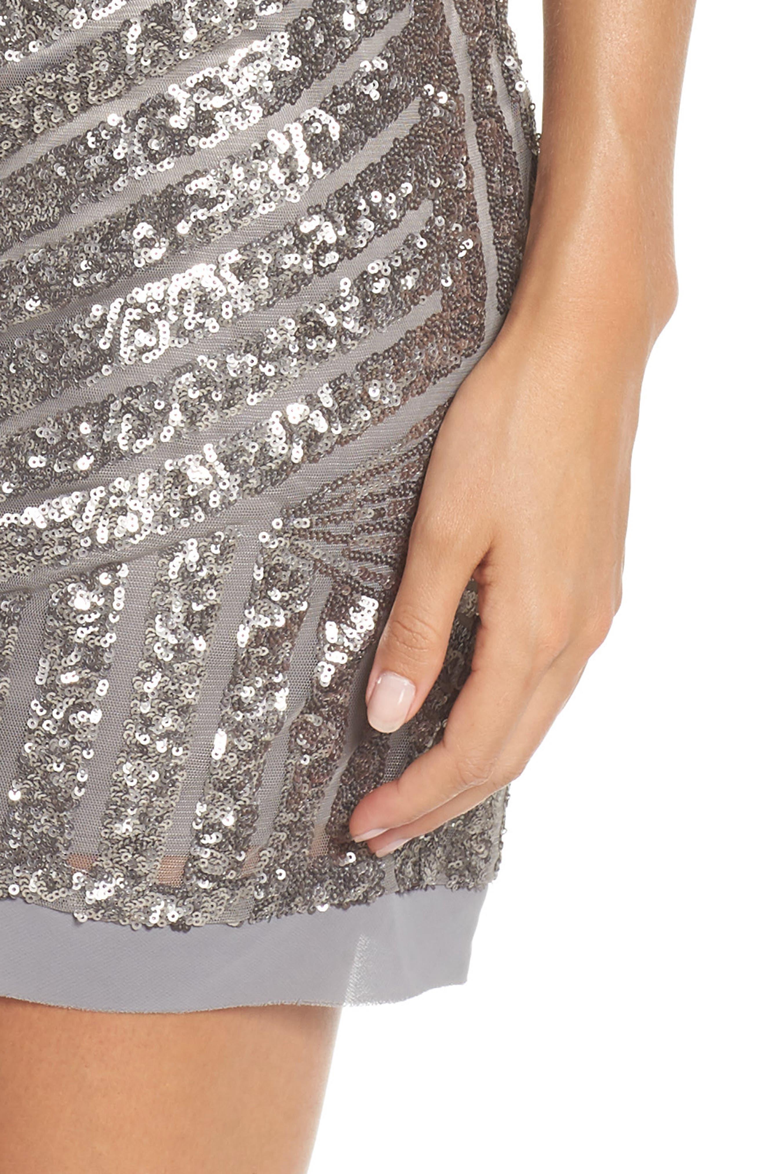 Sequin Embellished Shift Dress,                             Alternate thumbnail 4, color,                             040