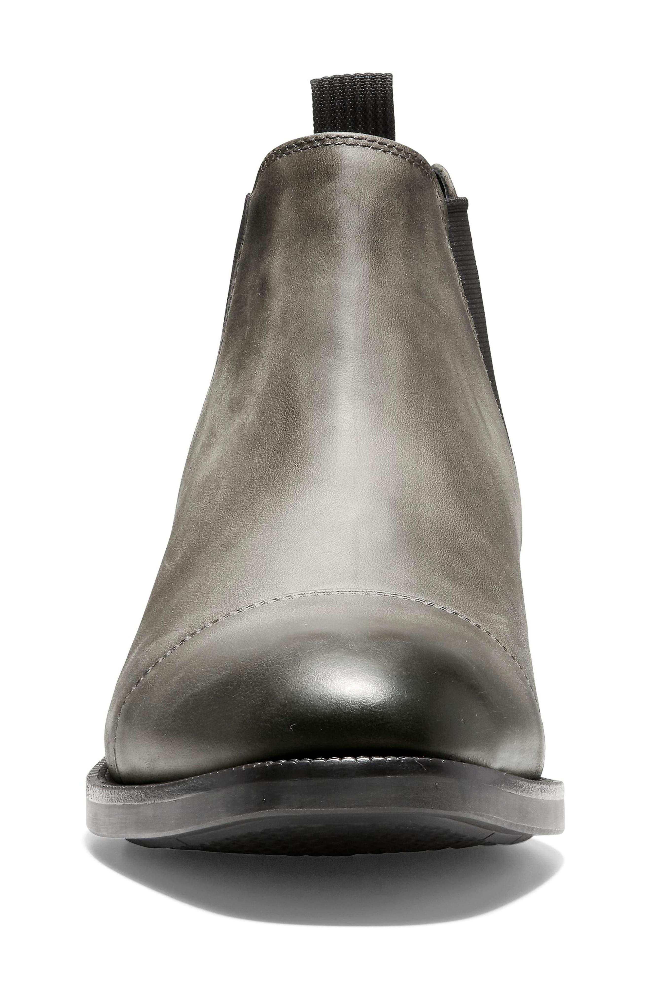 Wagner Grand Chelsea Boot,                             Alternate thumbnail 3, color,                             MIDNIGHT GREY NUBUCK