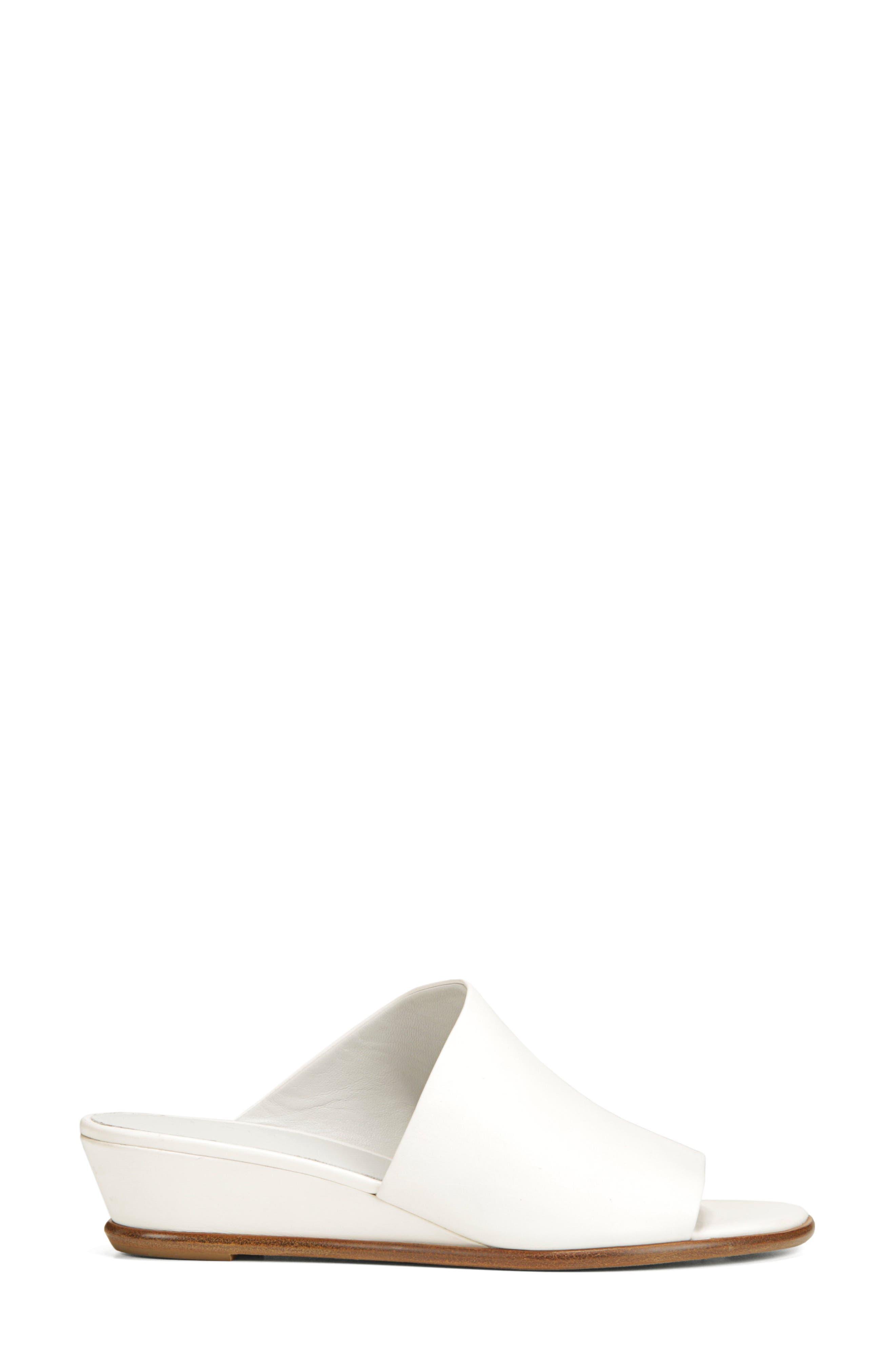 VINCE,                             Duvall Asymmetrical Wedge Sandal,                             Alternate thumbnail 3, color,                             OFF WHITE
