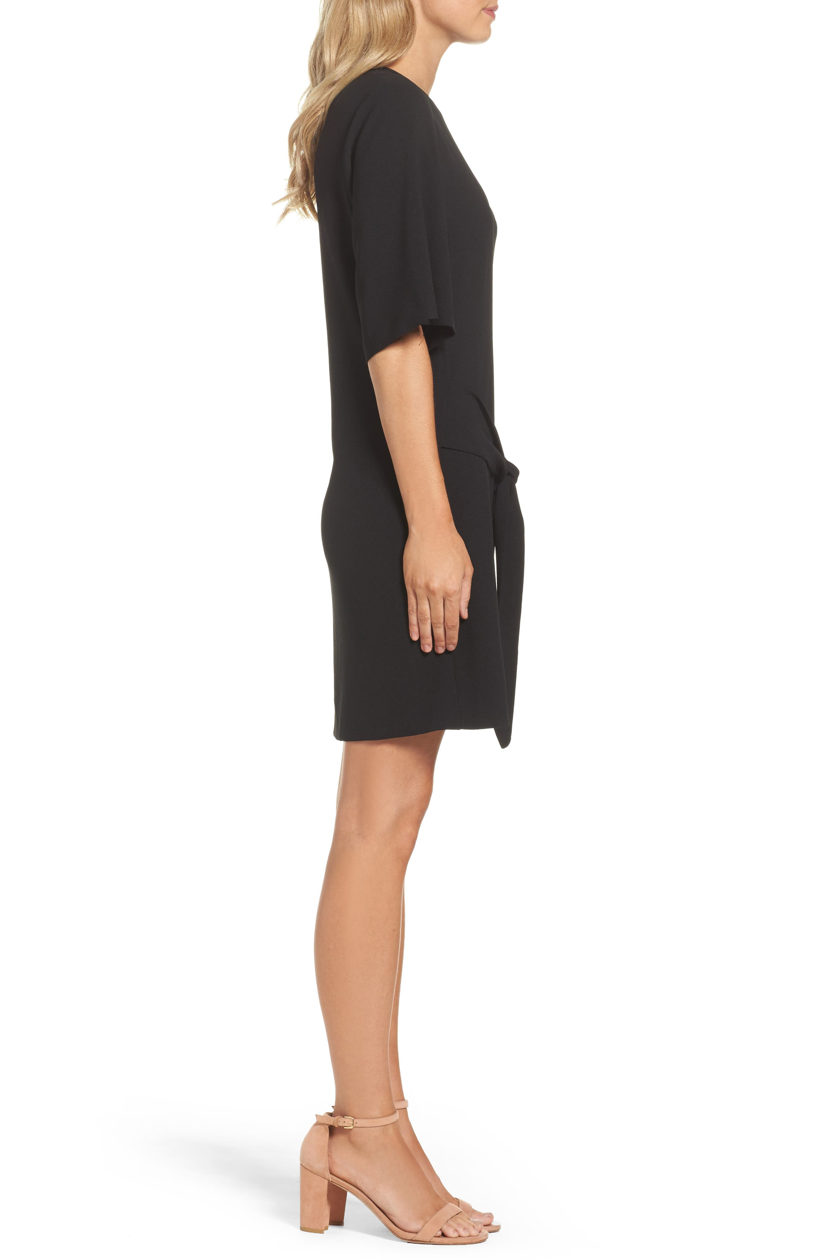 Dara Shift Dress,                             Alternate thumbnail 3, color,                             BLACK