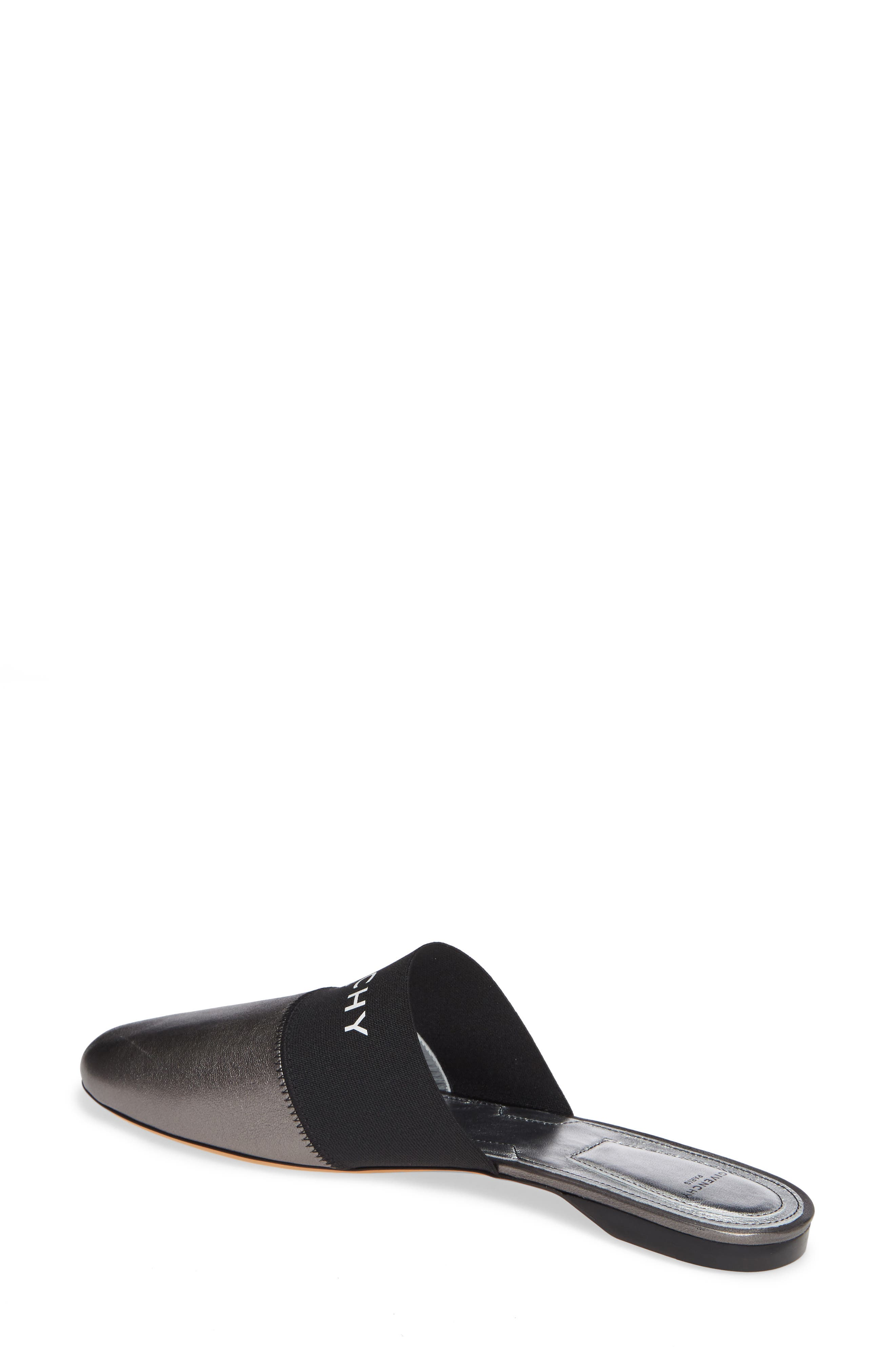 GIVENCHY,                             Bedford Logo Mule,                             Alternate thumbnail 2, color,                             GUNMETAL