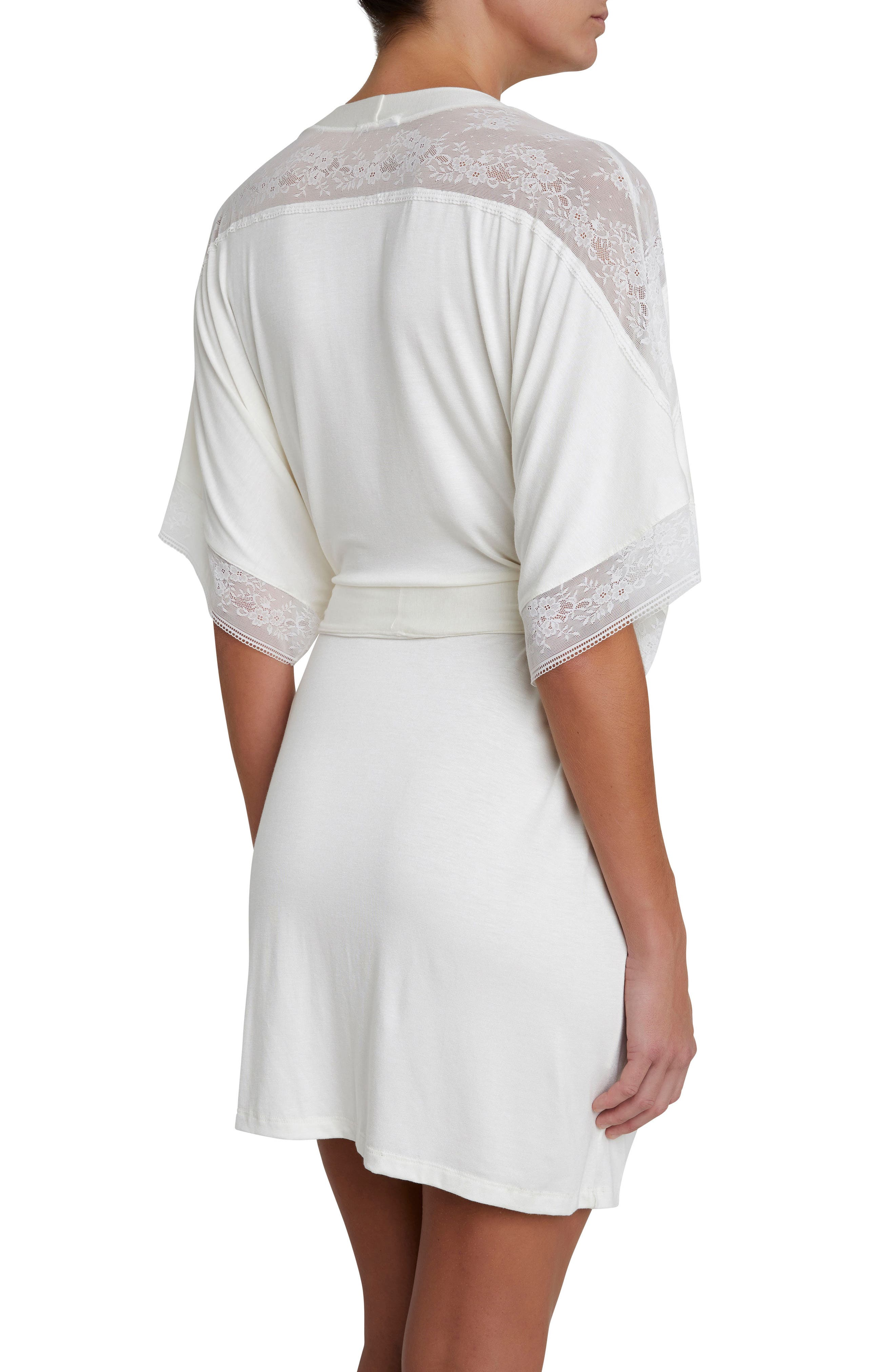Adora the Date Short Robe,                             Alternate thumbnail 2, color,                             IVORY