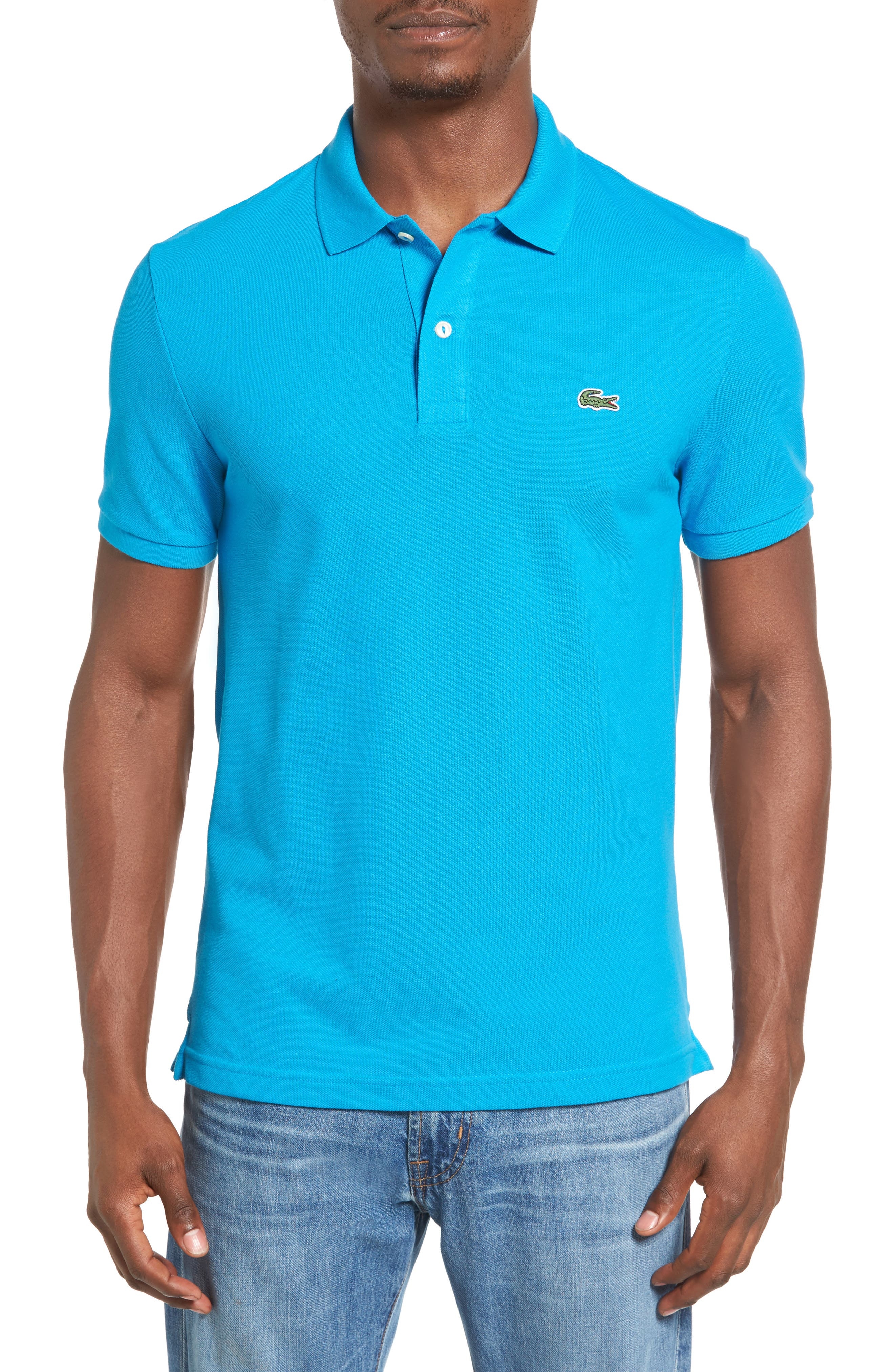 Slim Fit Piqué Polo,                             Main thumbnail 5, color,