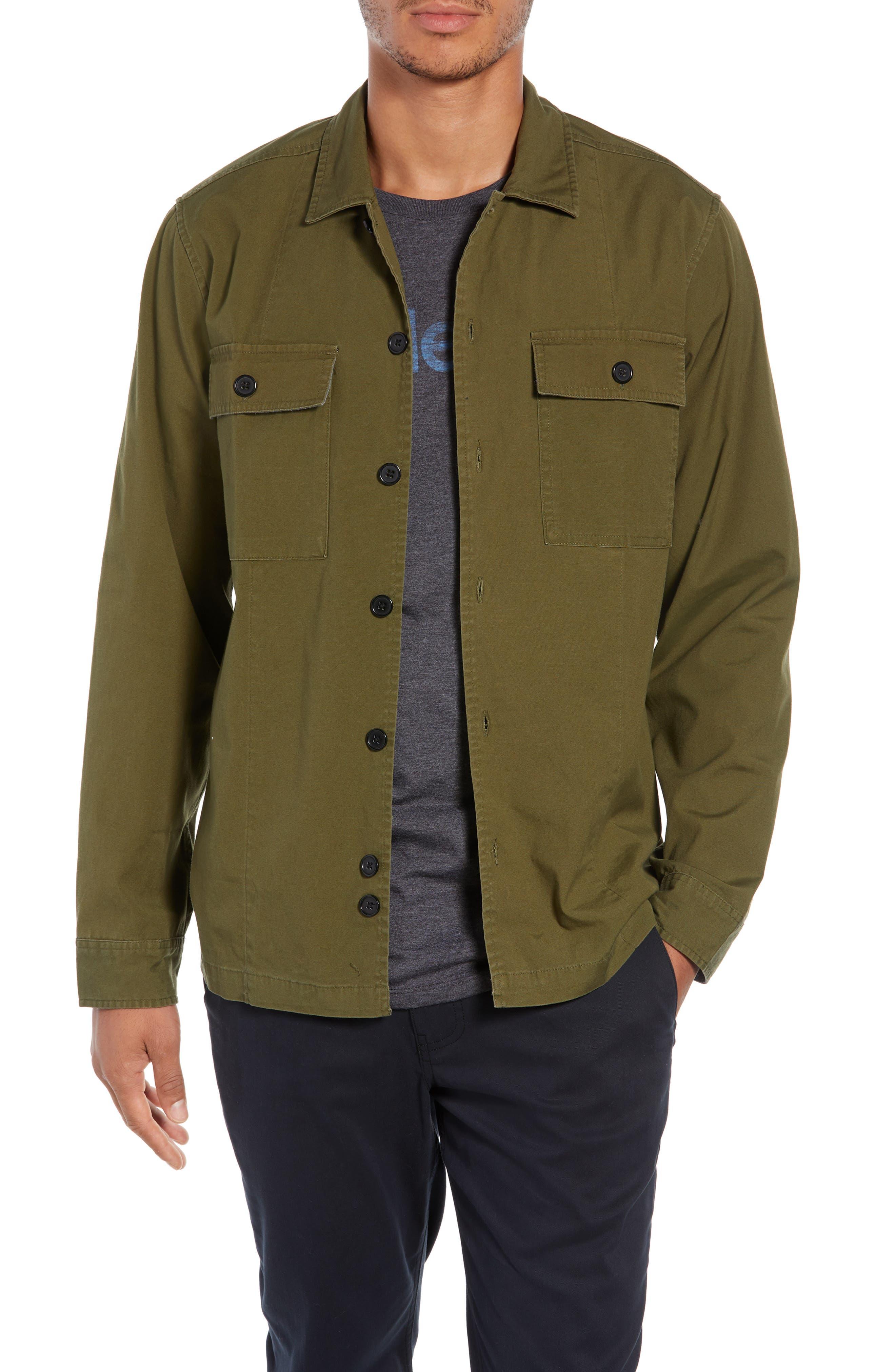 Lt. Dan Military Shirt Jacket,                             Main thumbnail 1, color,                             OLIVE CANVAS