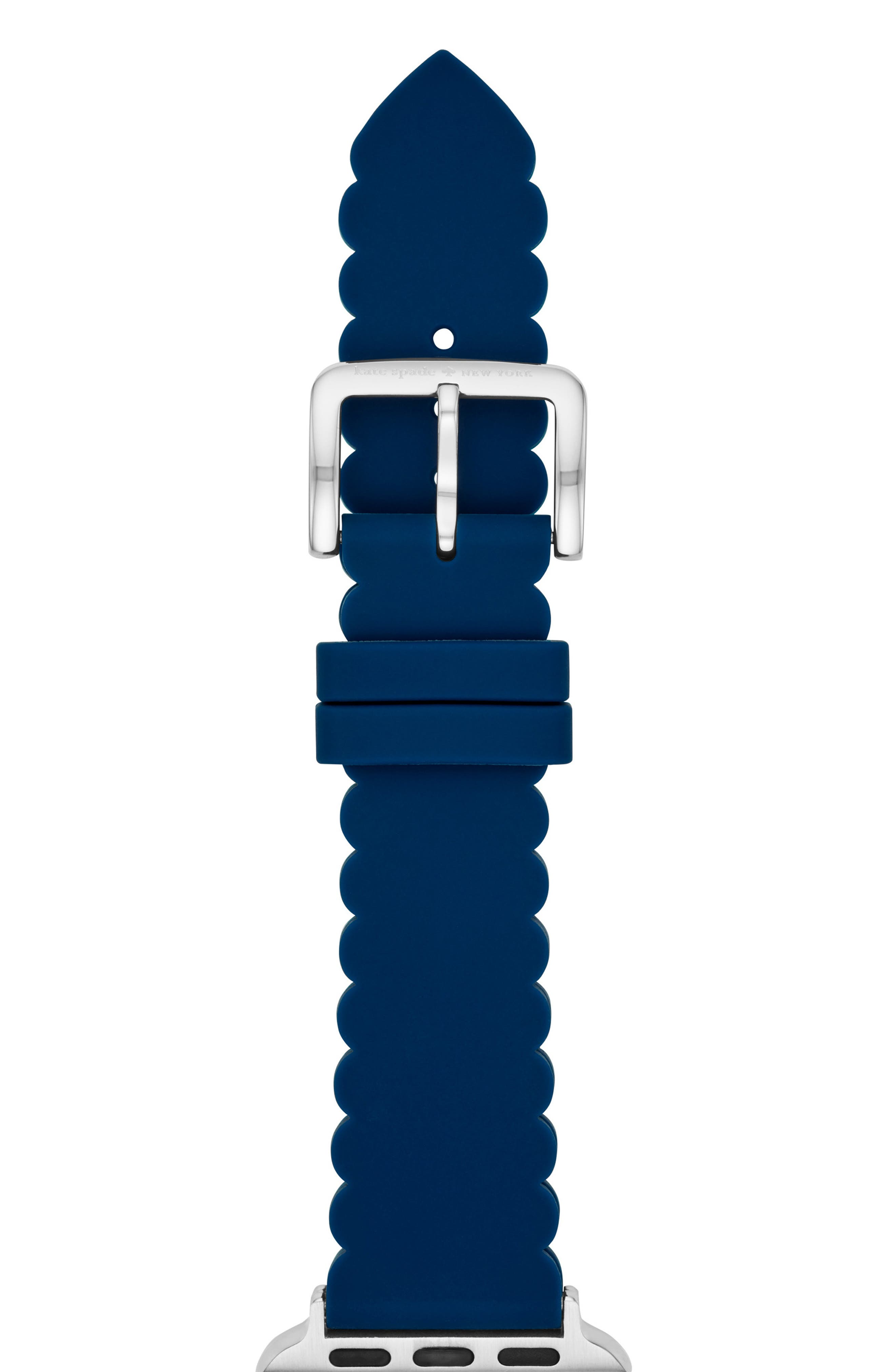 Apple Watch strap, 38mm,                             Main thumbnail 1, color,                             NAVY/ SILVER