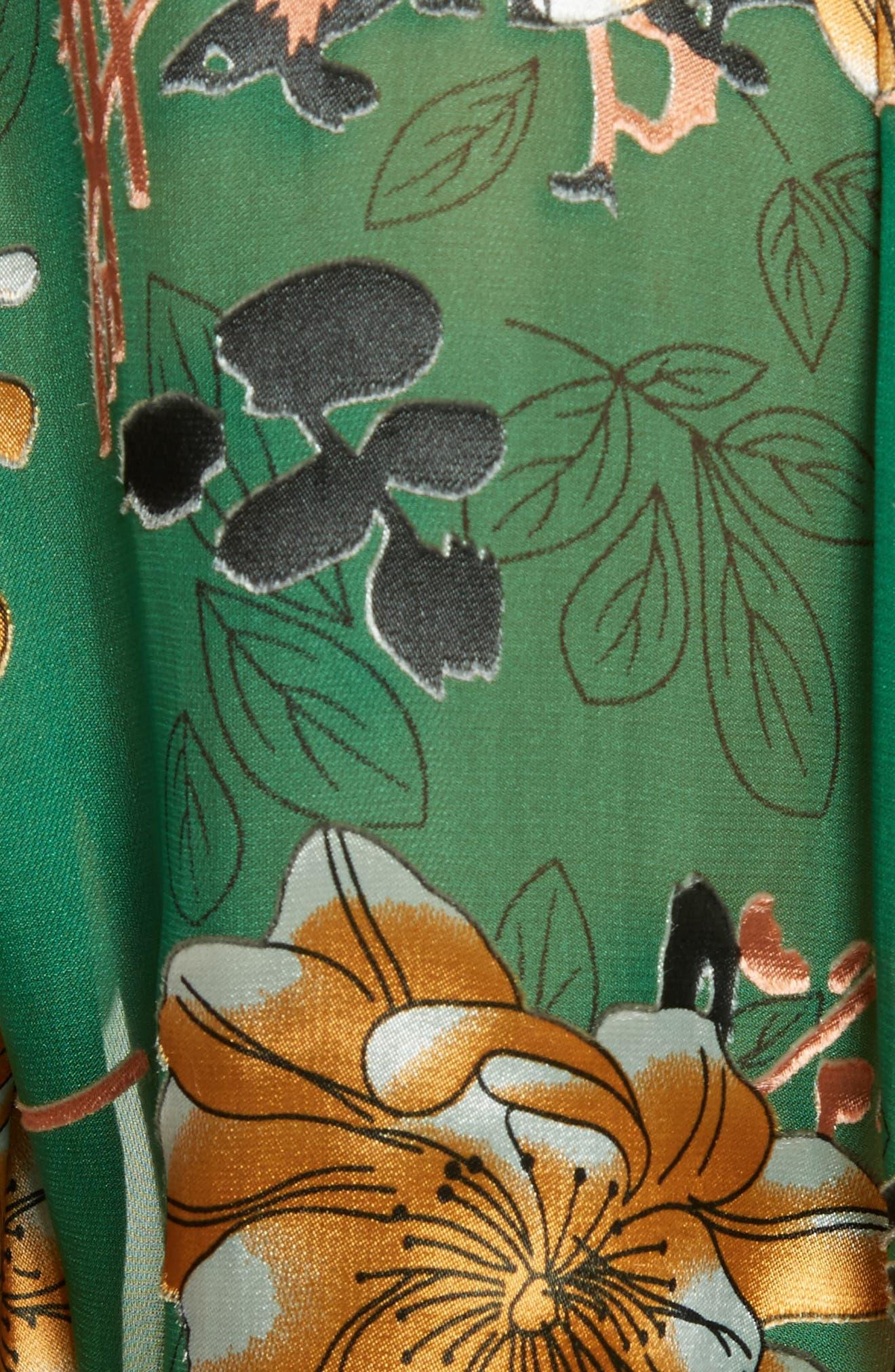 Eloise Roll Sleeve Floral Blouse,                             Alternate thumbnail 5, color,                             308