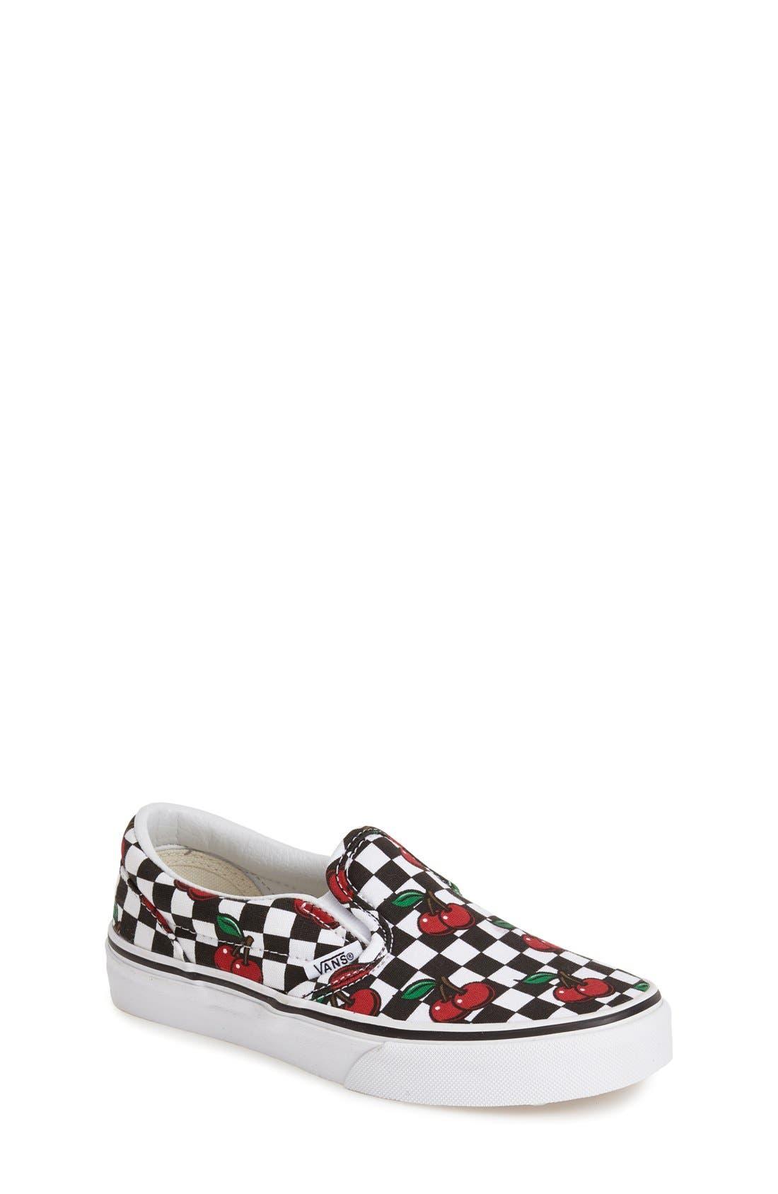 'Classic - Cherry Checkerboard' Slip-On, Main, color, 001