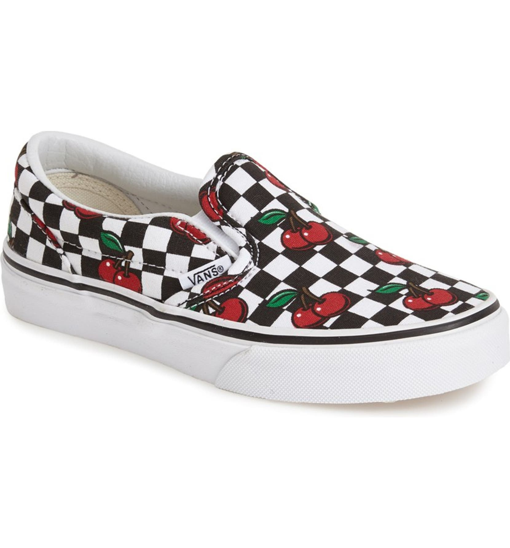 a1f5aba8f08 Vans  Classic - Cherry Checkerboard  Slip-On (Toddler