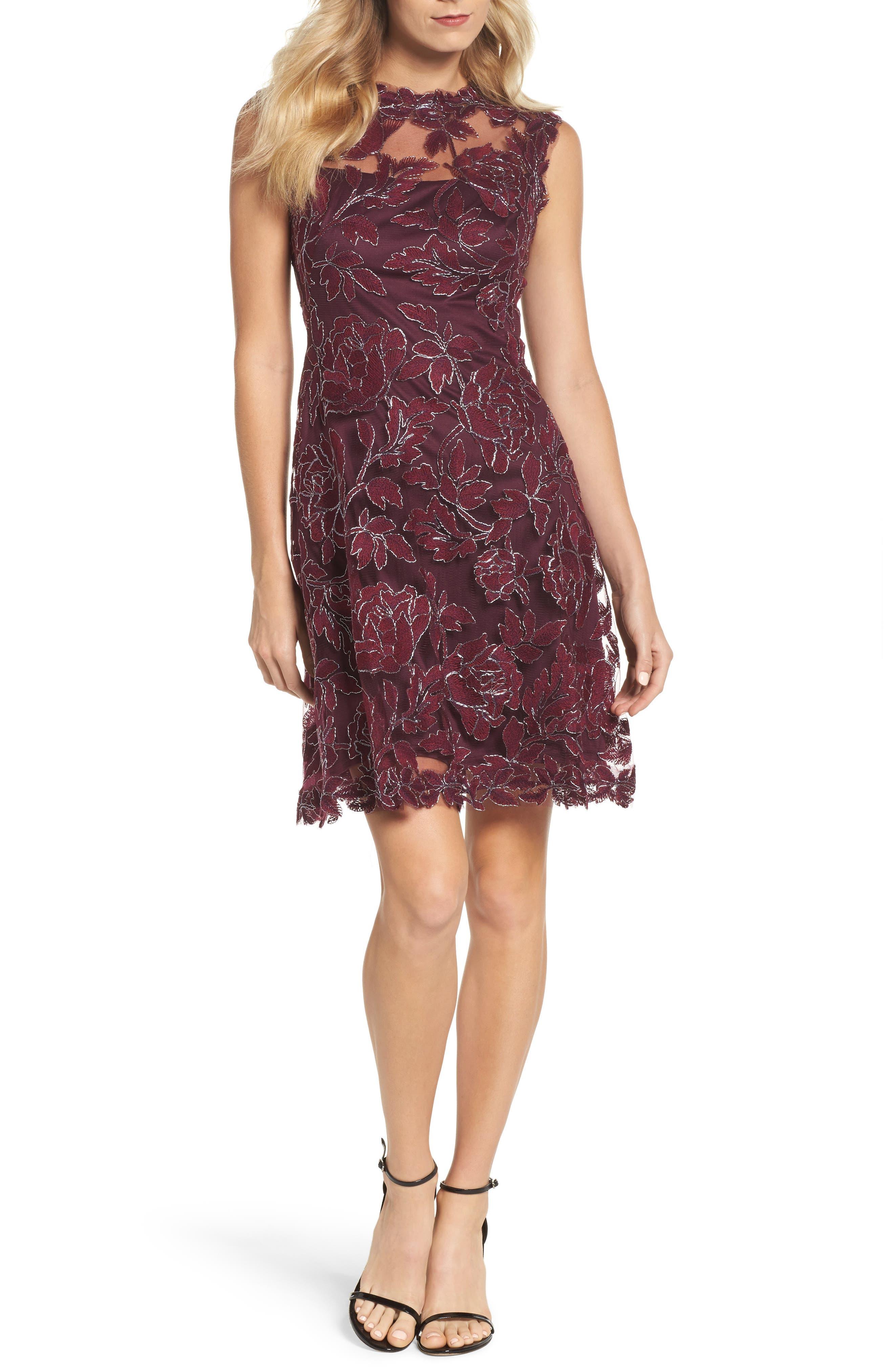 Noelle Floral Fit & Flare Dress,                             Main thumbnail 1, color,                             572