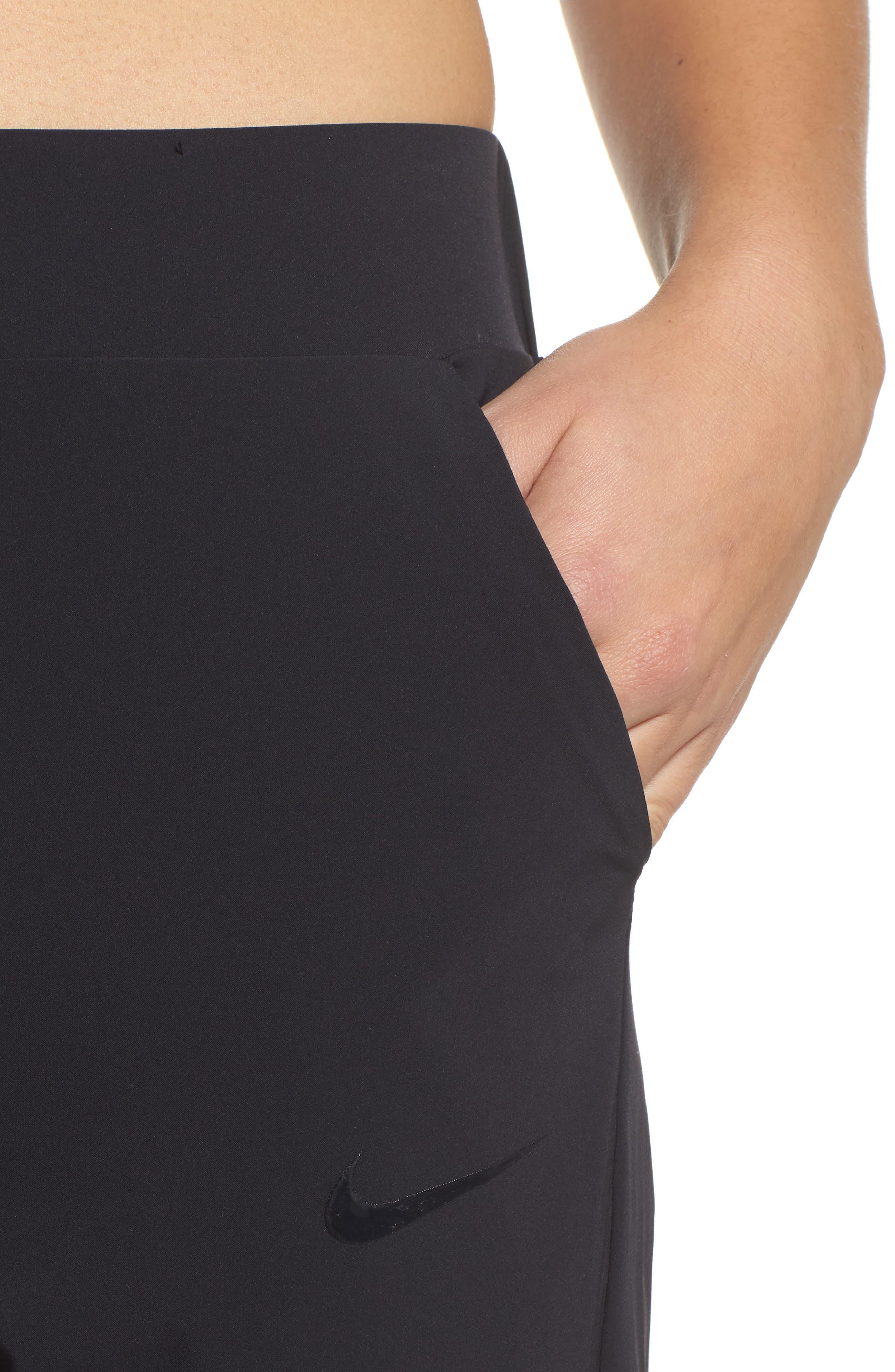 Bliss Training Pants,                             Alternate thumbnail 4, color,                             BLACK/ CLEAR