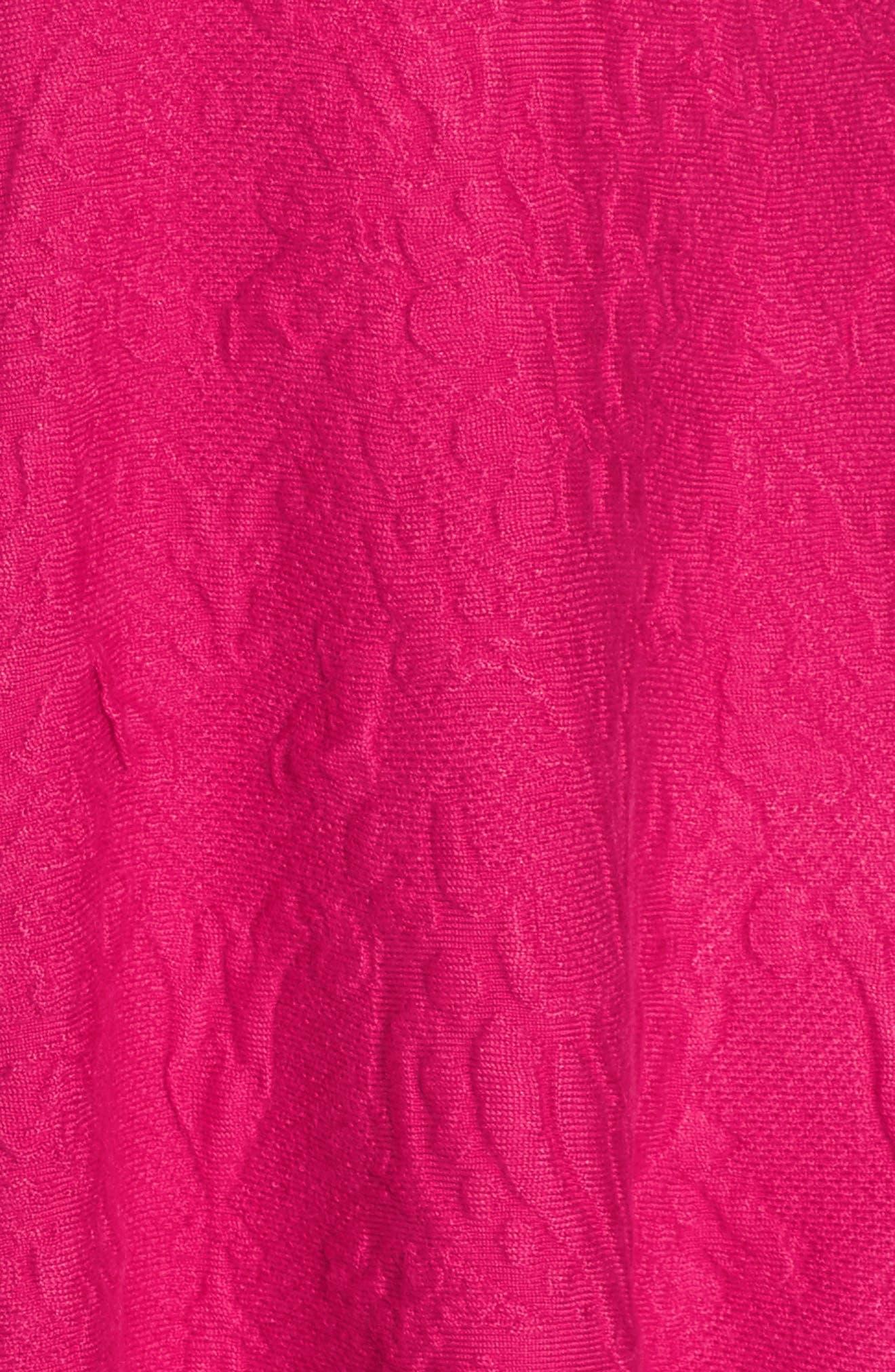 Texture Knit Fit & Flare Dress,                             Alternate thumbnail 6, color,                             660
