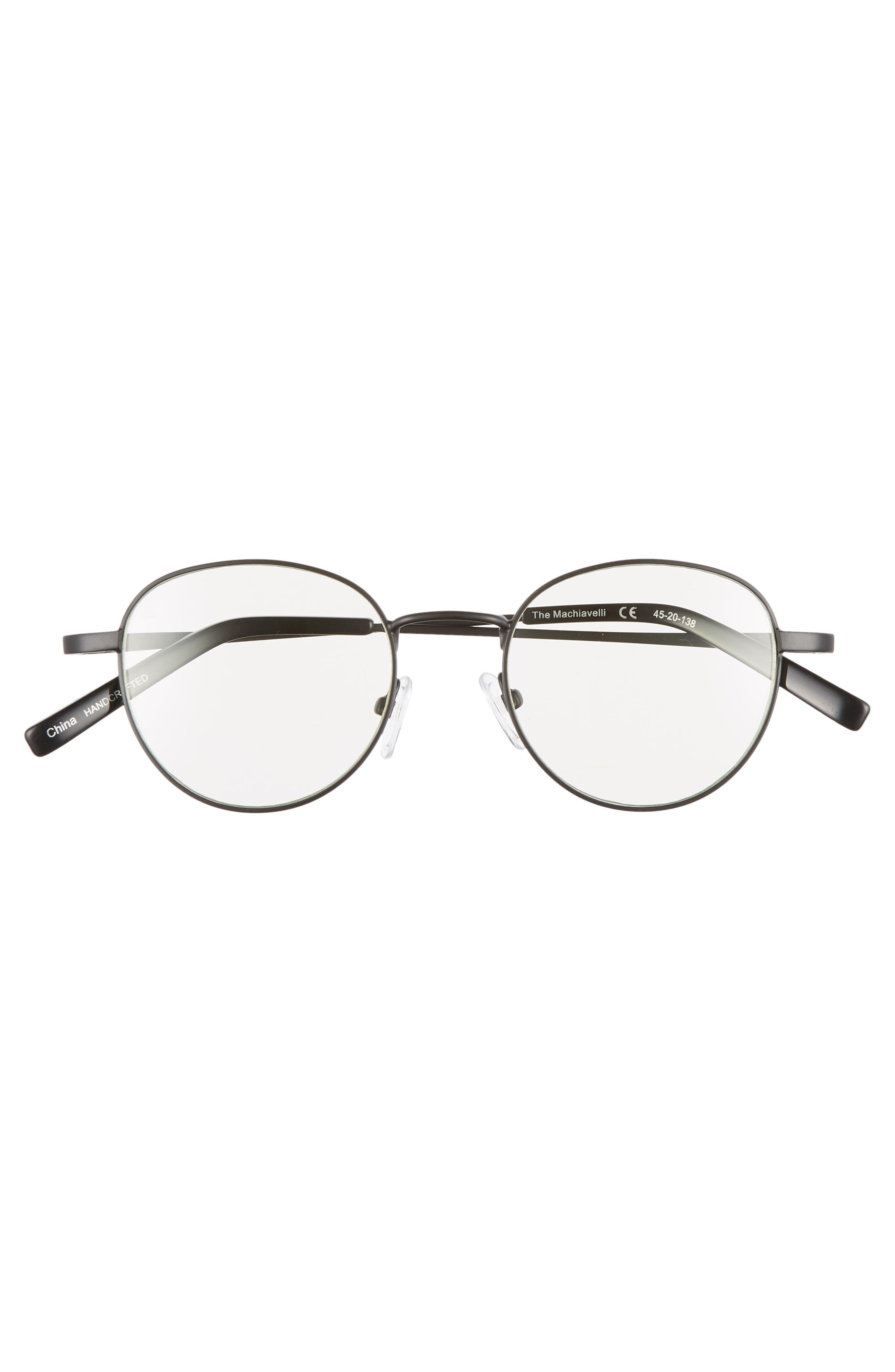 Privé Revaux The Machiavelli 45mm Blue Light Blocking Glasses,                             Alternate thumbnail 3, color,                             001