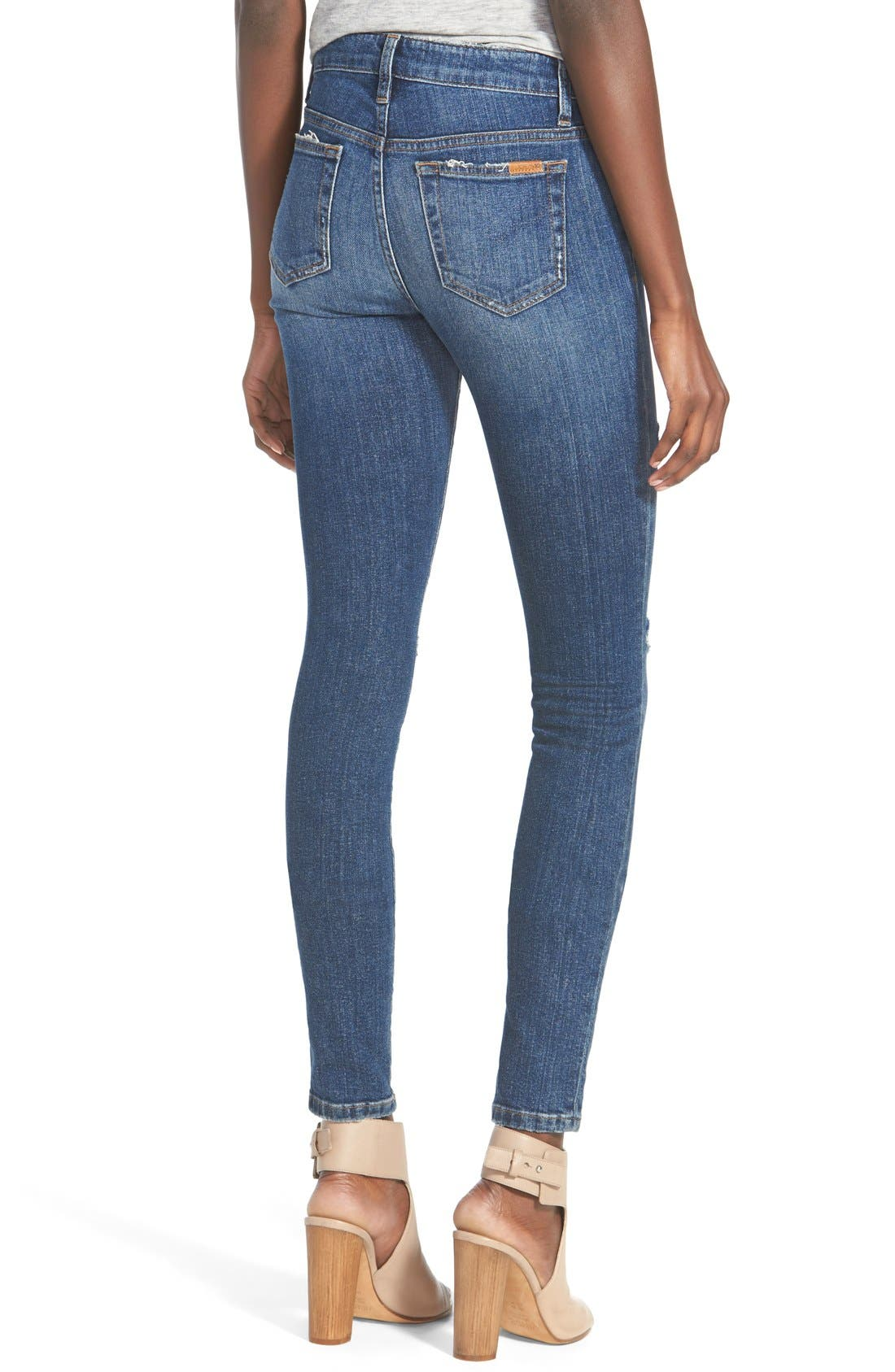 'The Icon' Skinny Jeans,                             Alternate thumbnail 6, color,                             410