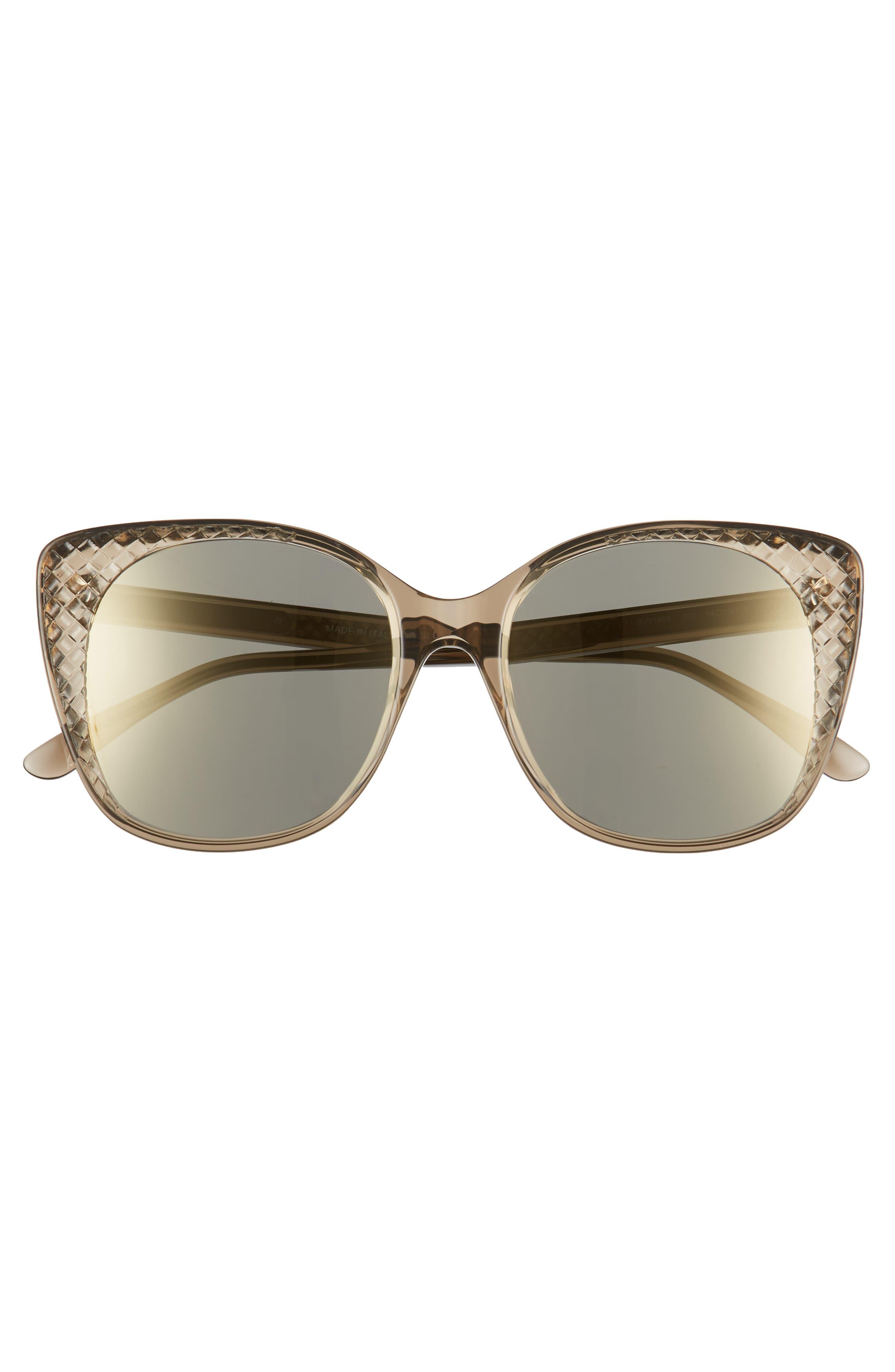 54mm Sunglasses,                             Alternate thumbnail 3, color,                             BROWN