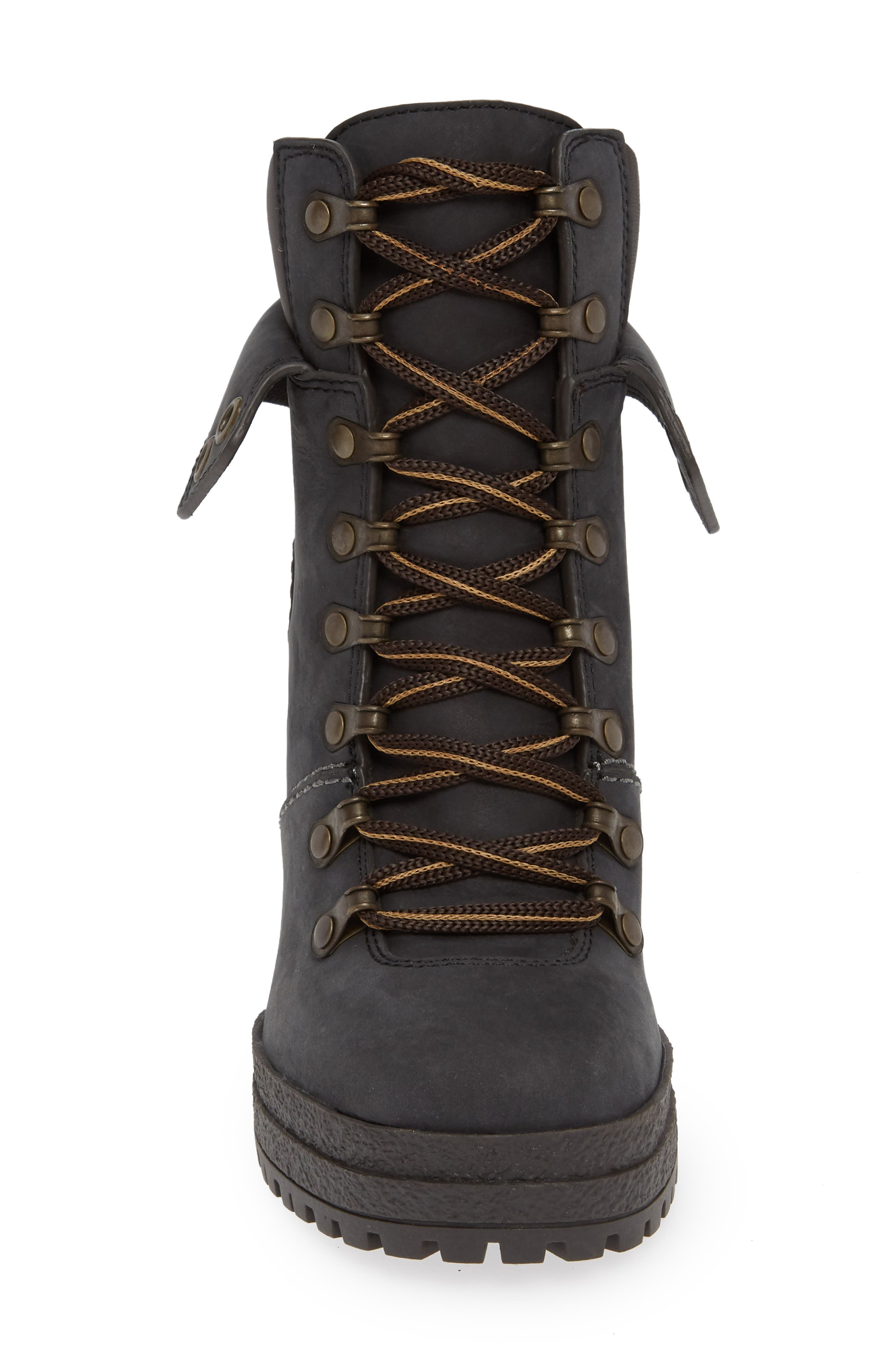 Eileen Platform Boot,                             Alternate thumbnail 4, color,                             BLACK
