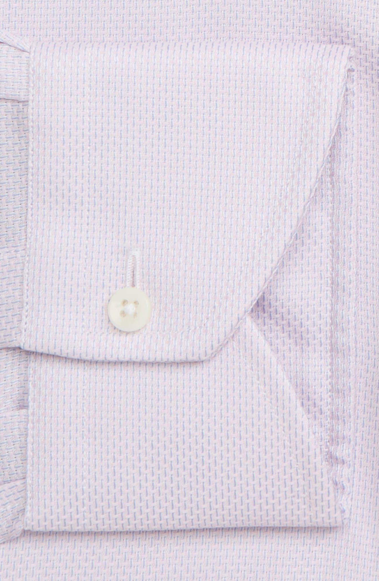 Trim Fit Solid Dress Shirt,                             Alternate thumbnail 7, color,                             LIGHT PINK