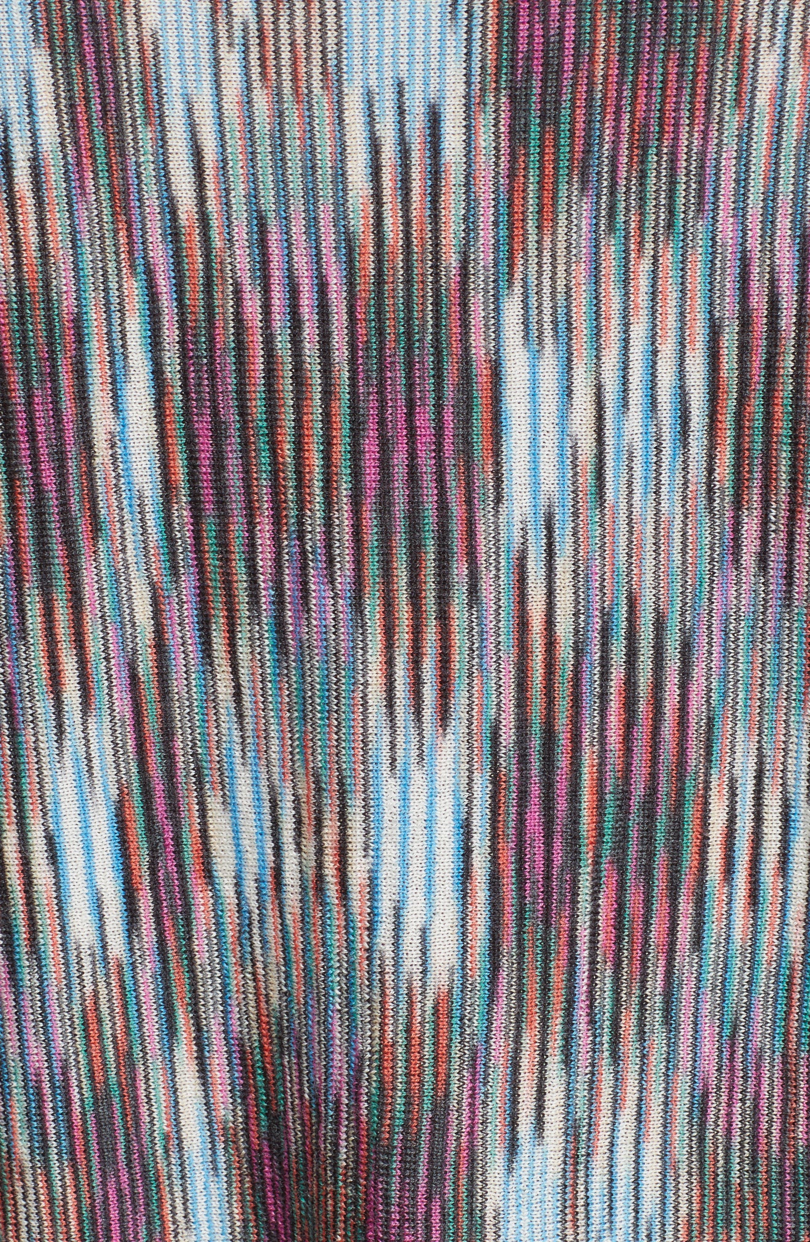 Space Dye Knit Dress,                             Alternate thumbnail 7, color,                             001
