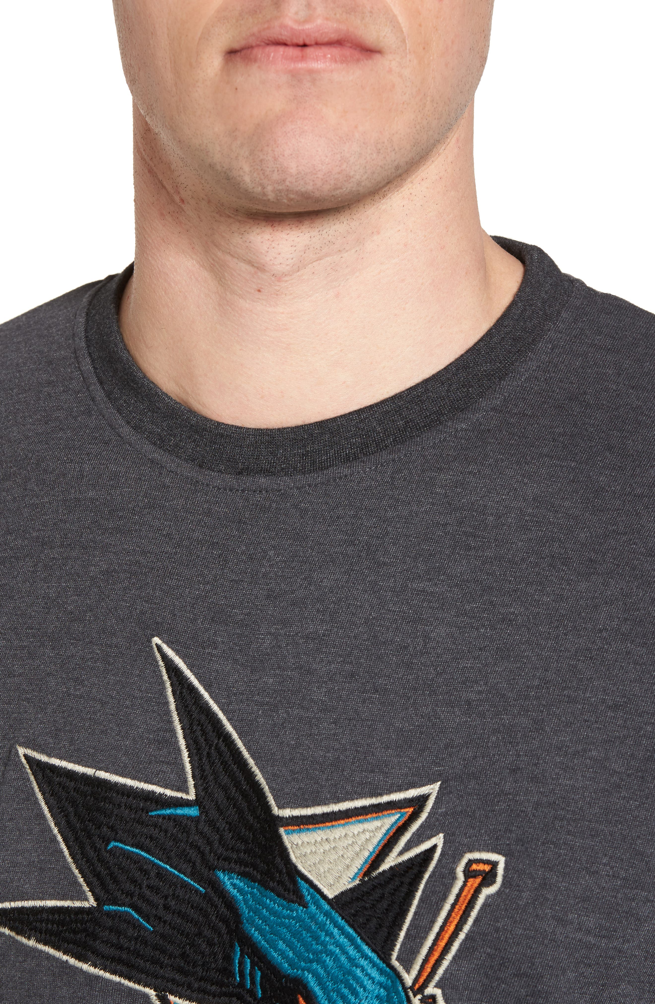 Hillwood San José Sharks Embroidered T-Shirt,                             Alternate thumbnail 4, color,