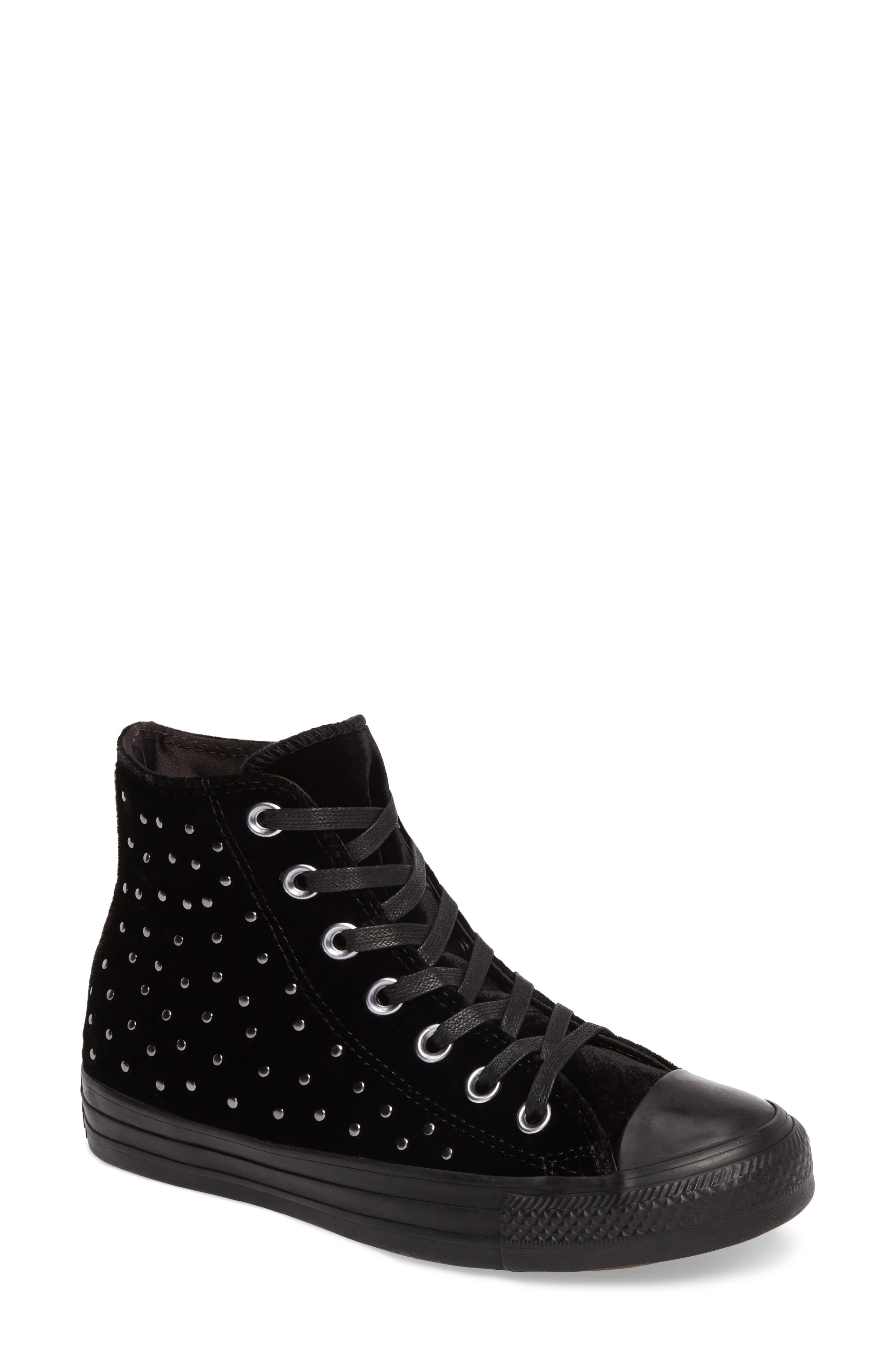 Chuck Taylor<sup>®</sup> All Star<sup>®</sup> Studded High Top Sneakers,                         Main,                         color, 001