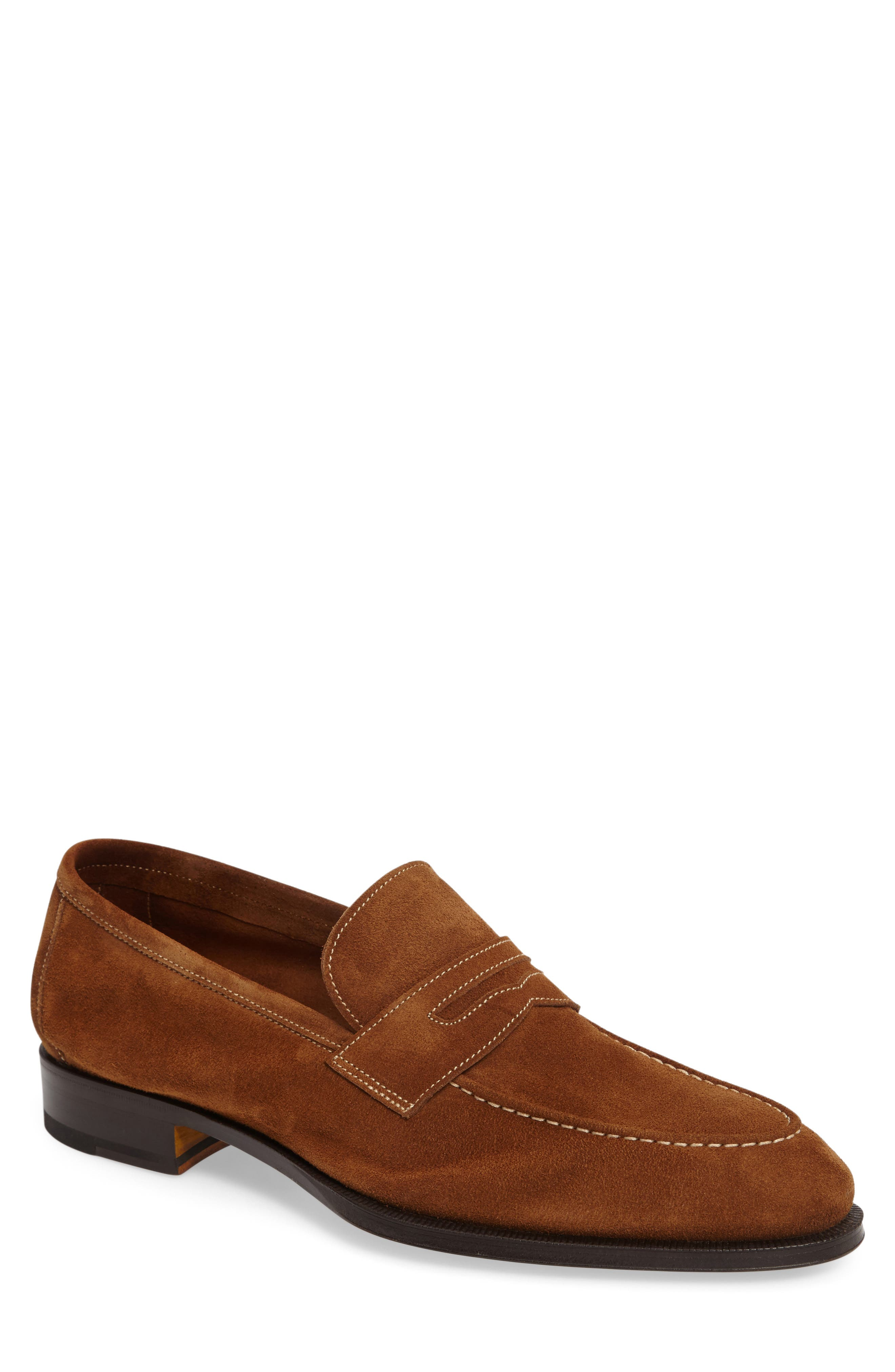 Leather Penny Loafer,                             Main thumbnail 2, color,