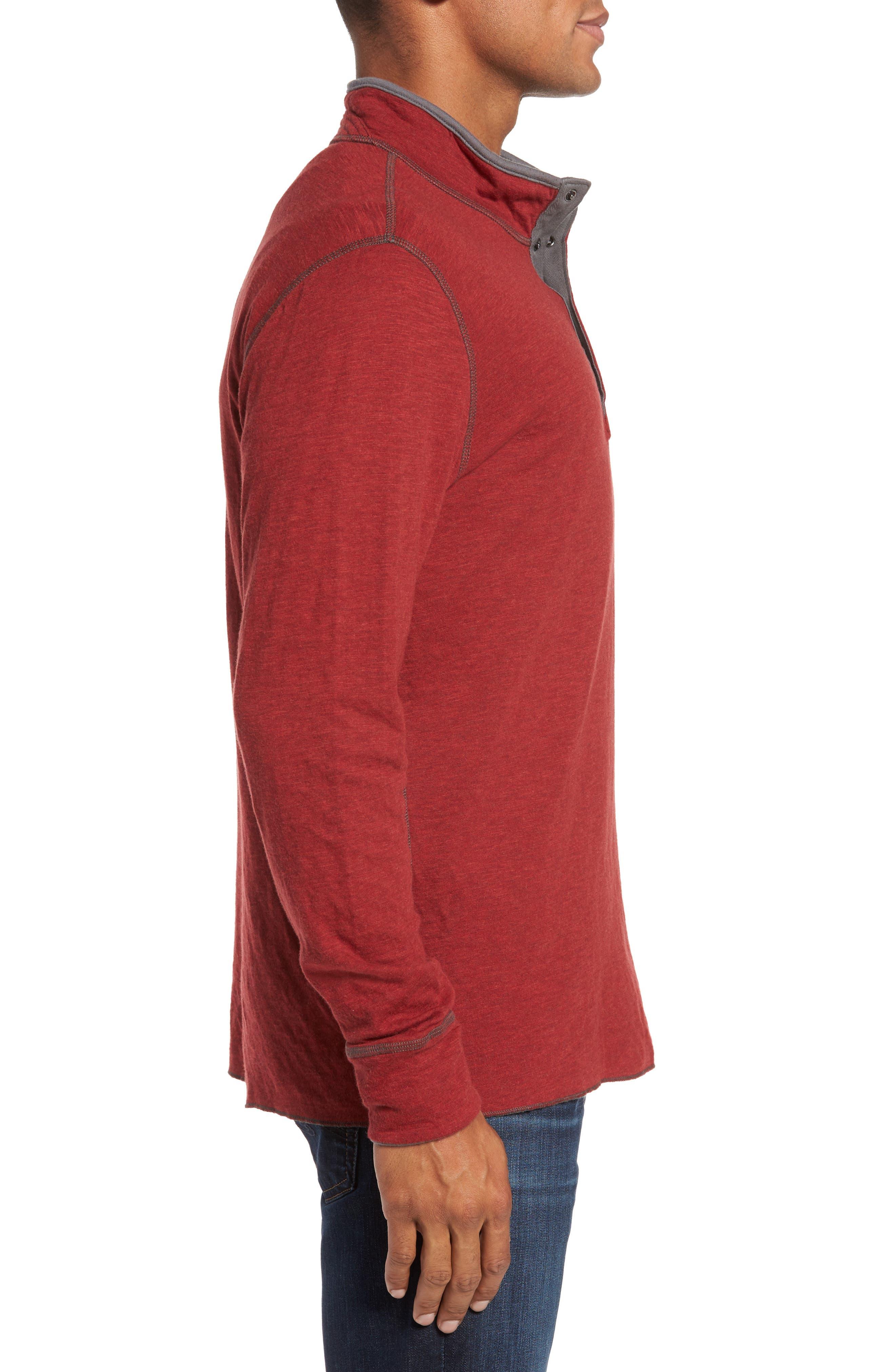 Mitch Reversible Slubbed Quarter Snap Pullover,                             Alternate thumbnail 12, color,
