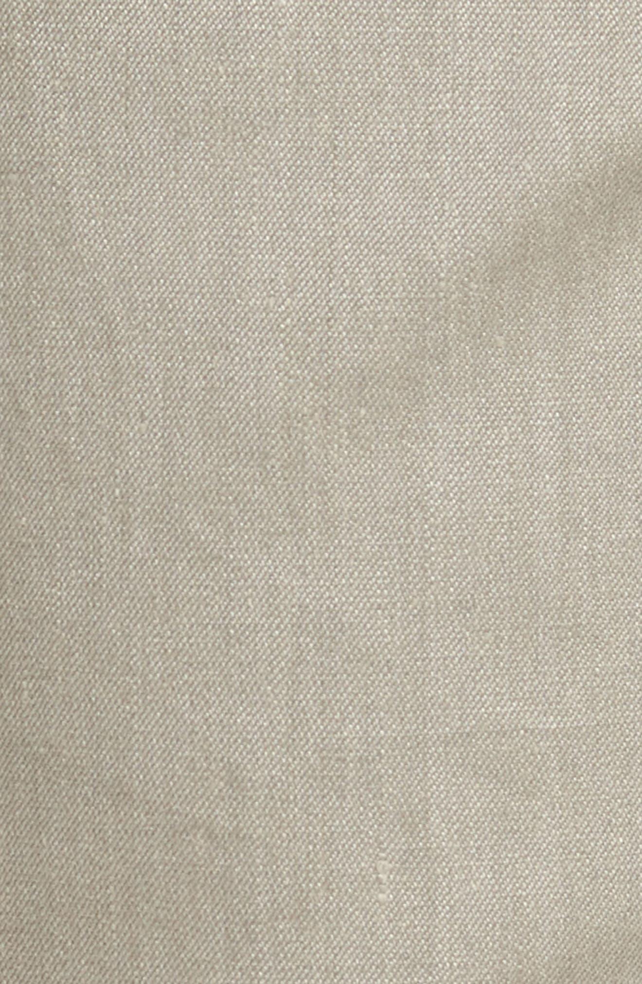 Flat Front Stretch Linen & Cotton Trousers,                             Alternate thumbnail 5, color,                             050