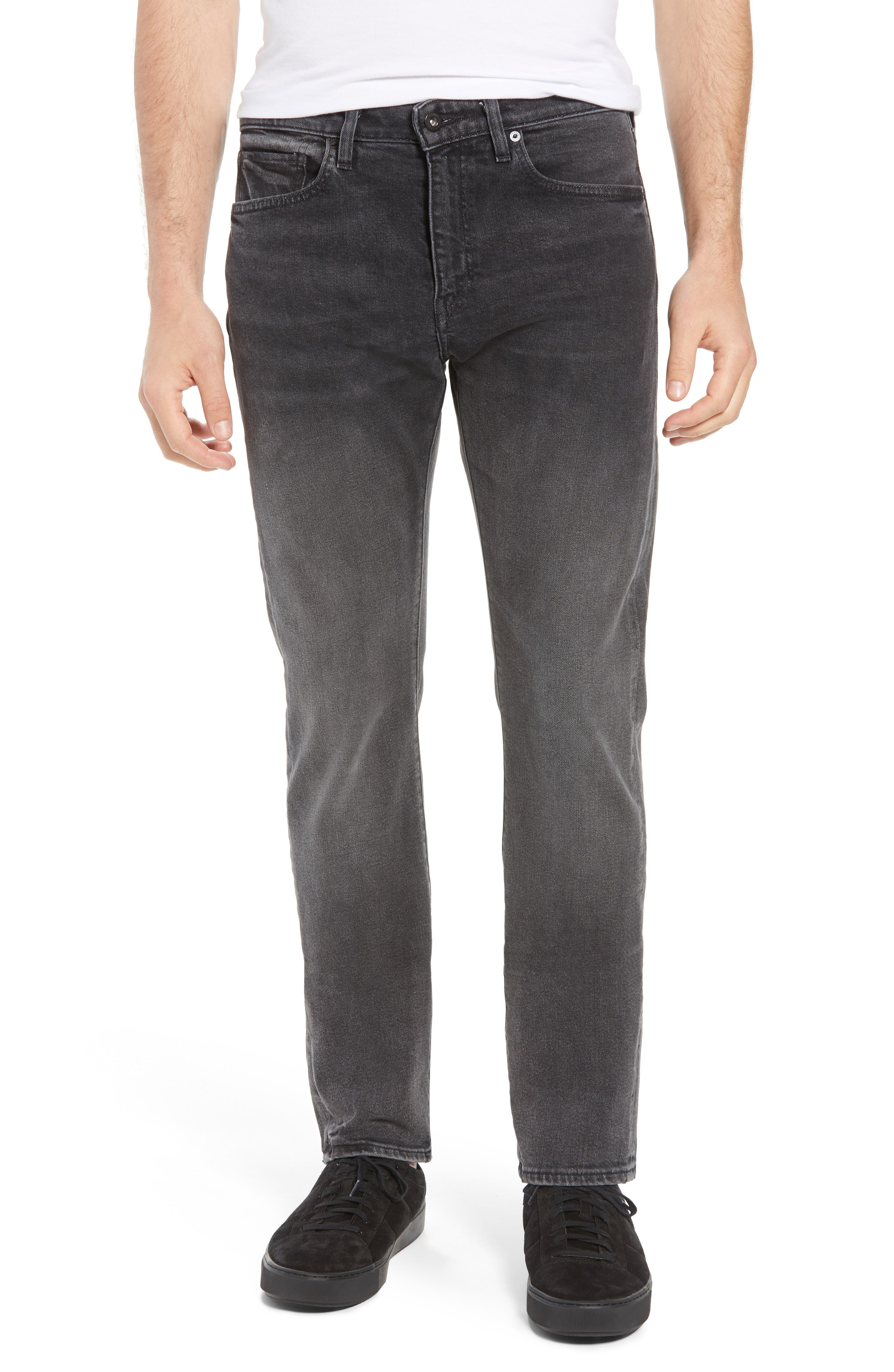 Tack Slim Fit Jeans,                         Main,                         color, BLACK ICE