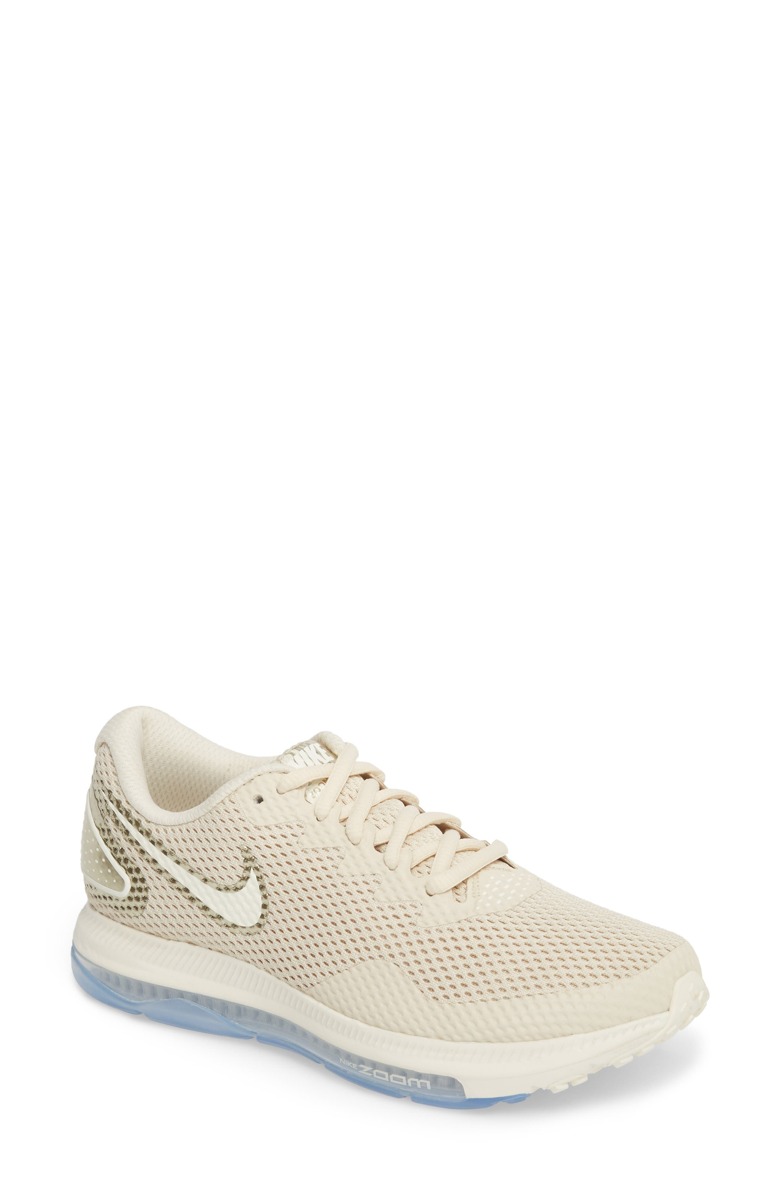 Zoom All Out Low 2 Running Shoe,                         Main,                         color, LIGHT CREAM/ SAIL