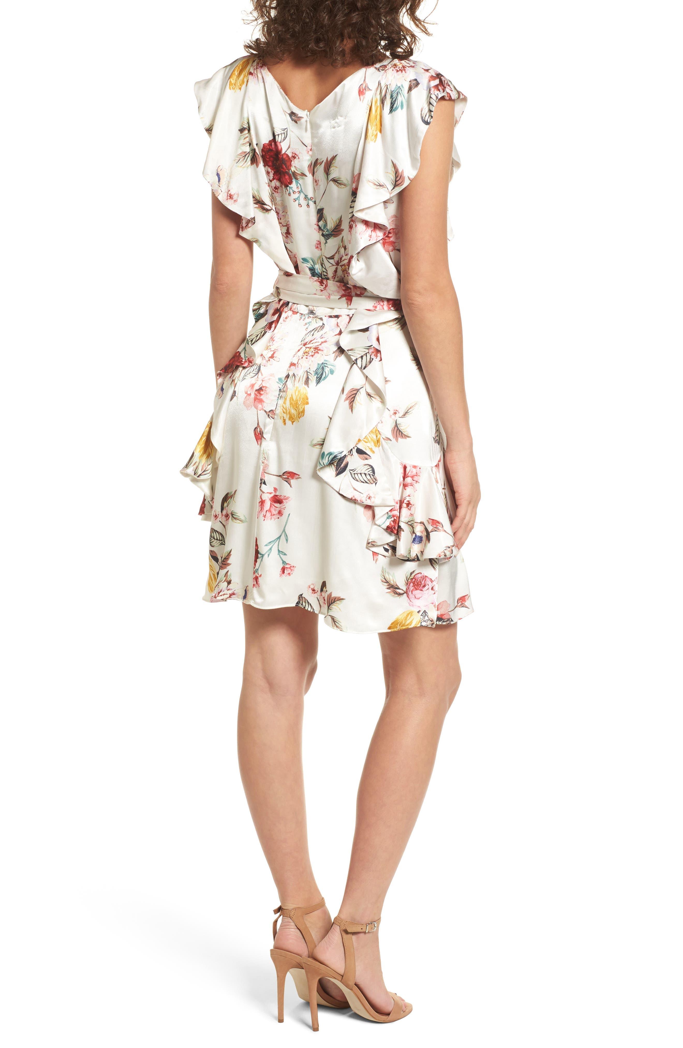 Clara Ruffle Dress,                             Alternate thumbnail 2, color,                             100