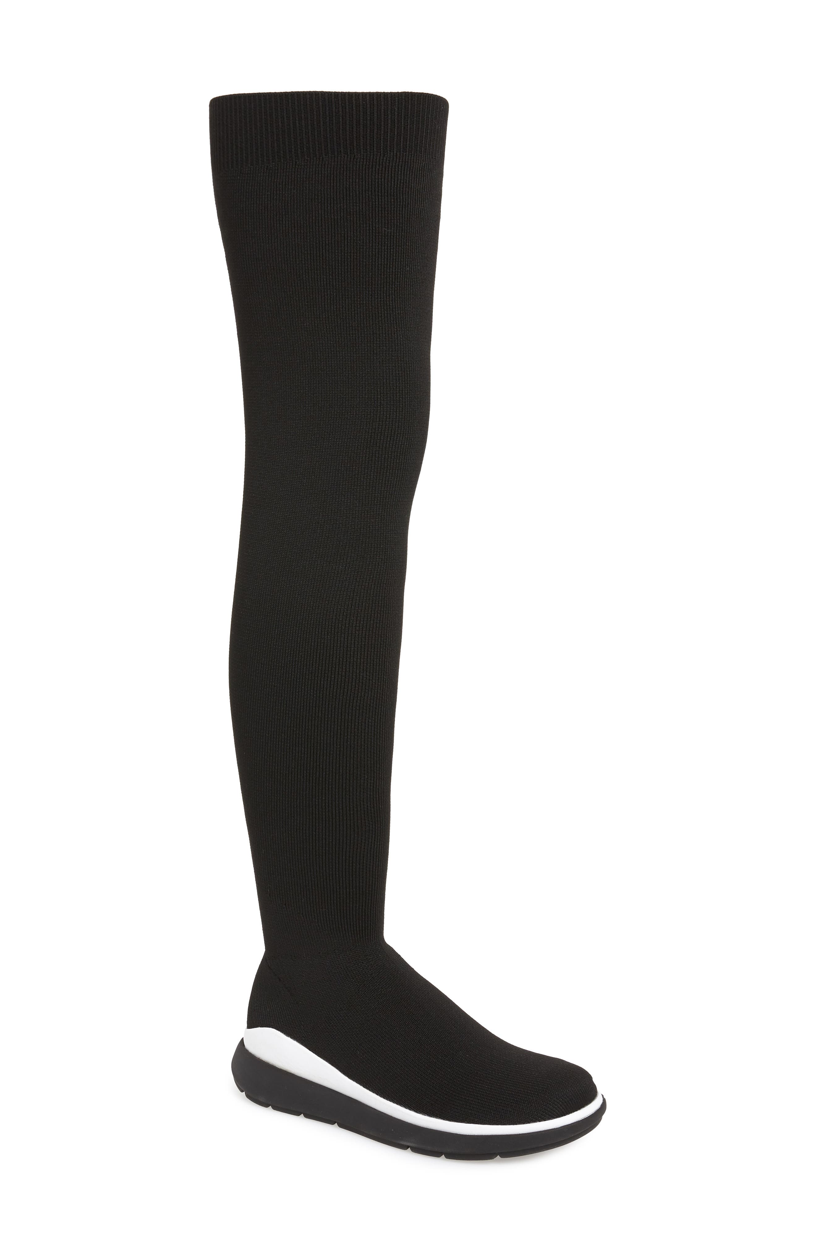 Fitflop Loosh Luxe Over The Knee Boot, Black