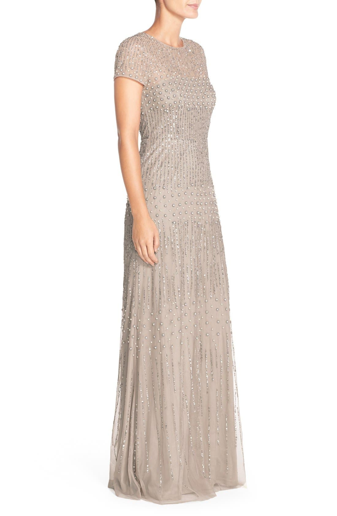 Embellished Mesh Gown,                             Alternate thumbnail 2, color,                             220